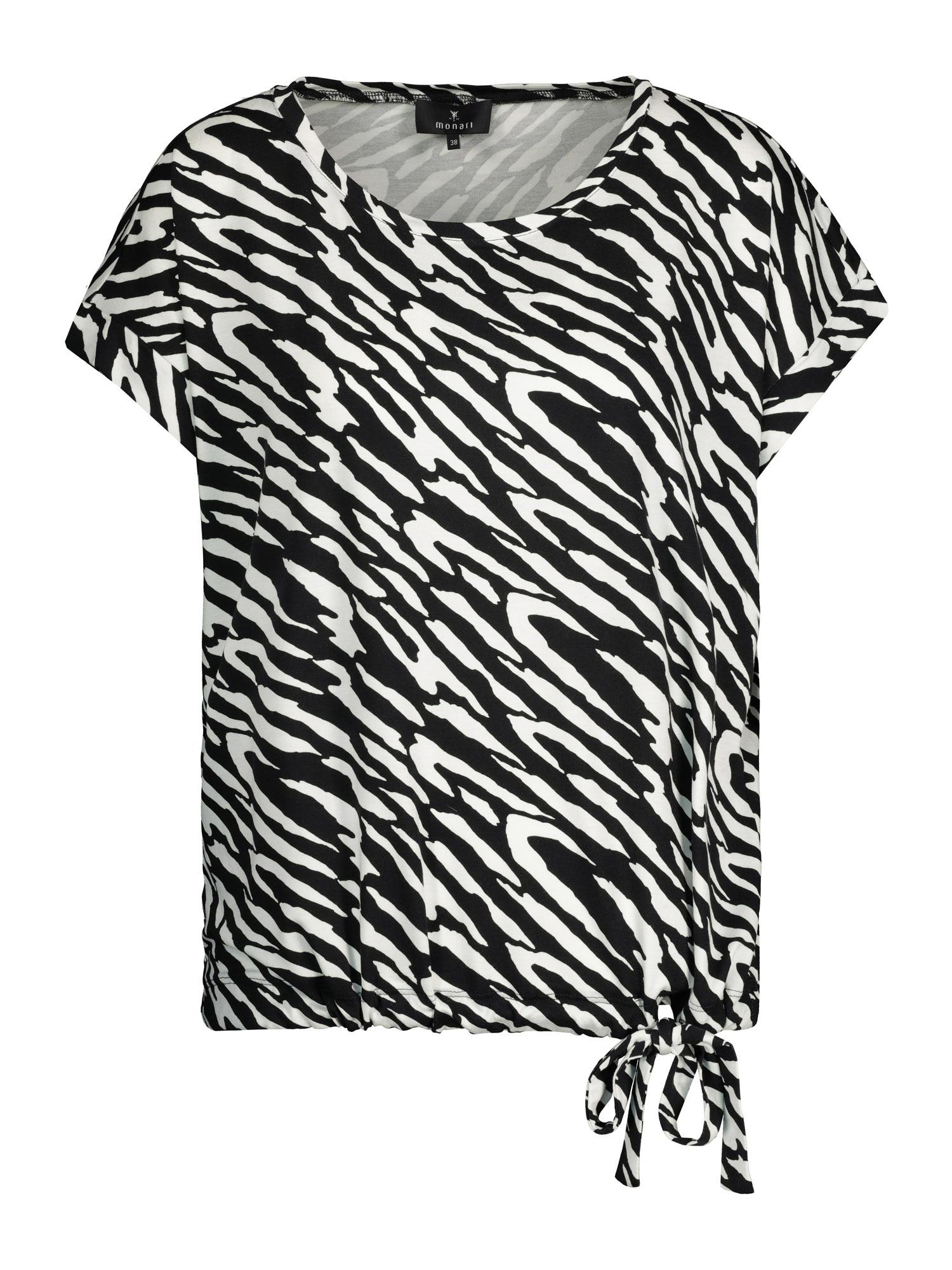 monari Marškinėliai juoda / balta