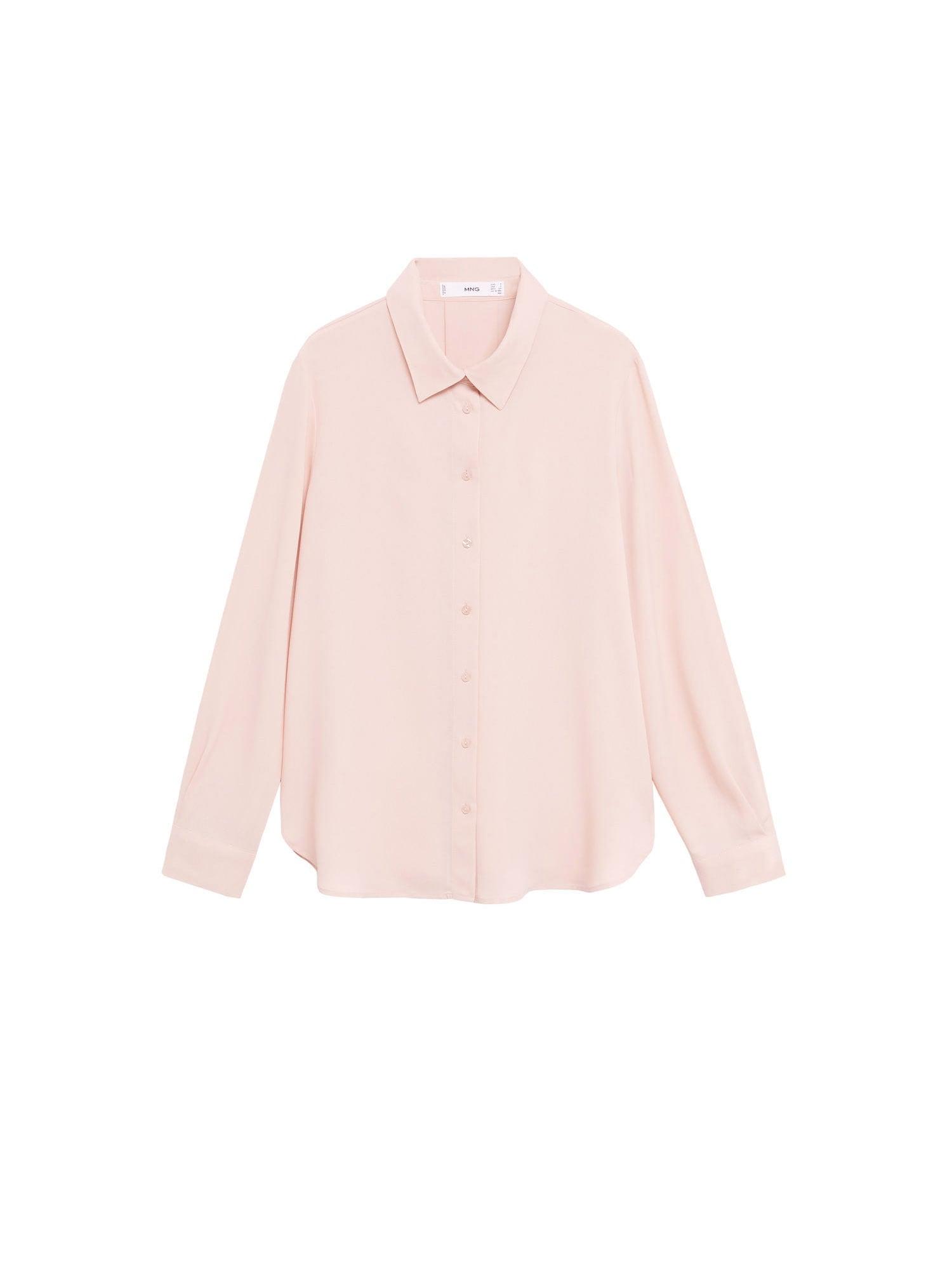 MANGO Halenka 'CAMISA'  pastelově růžová