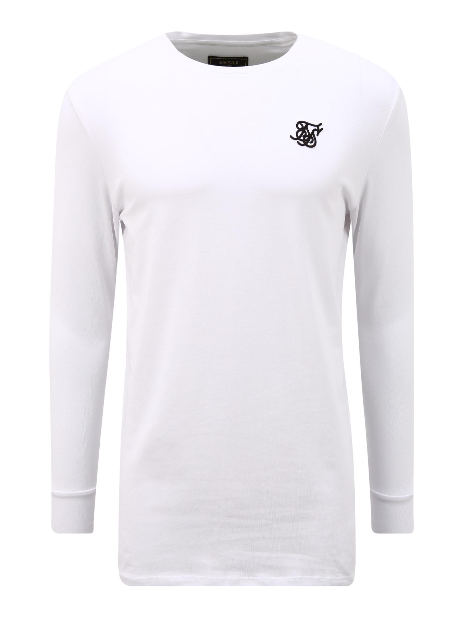 SikSilk Marškinėliai balta / juoda