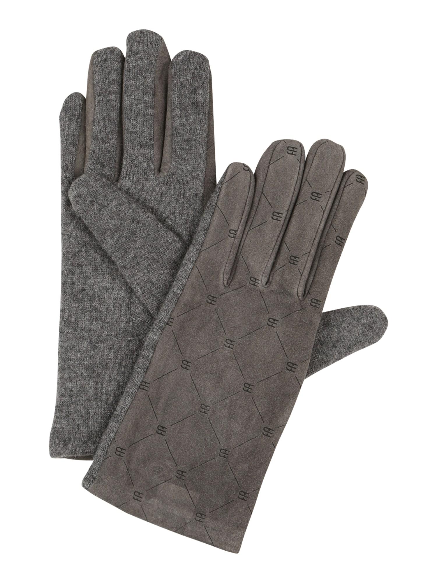 ESPRIT Pirštuotos pirštinės rausvai pilka / margai pilka