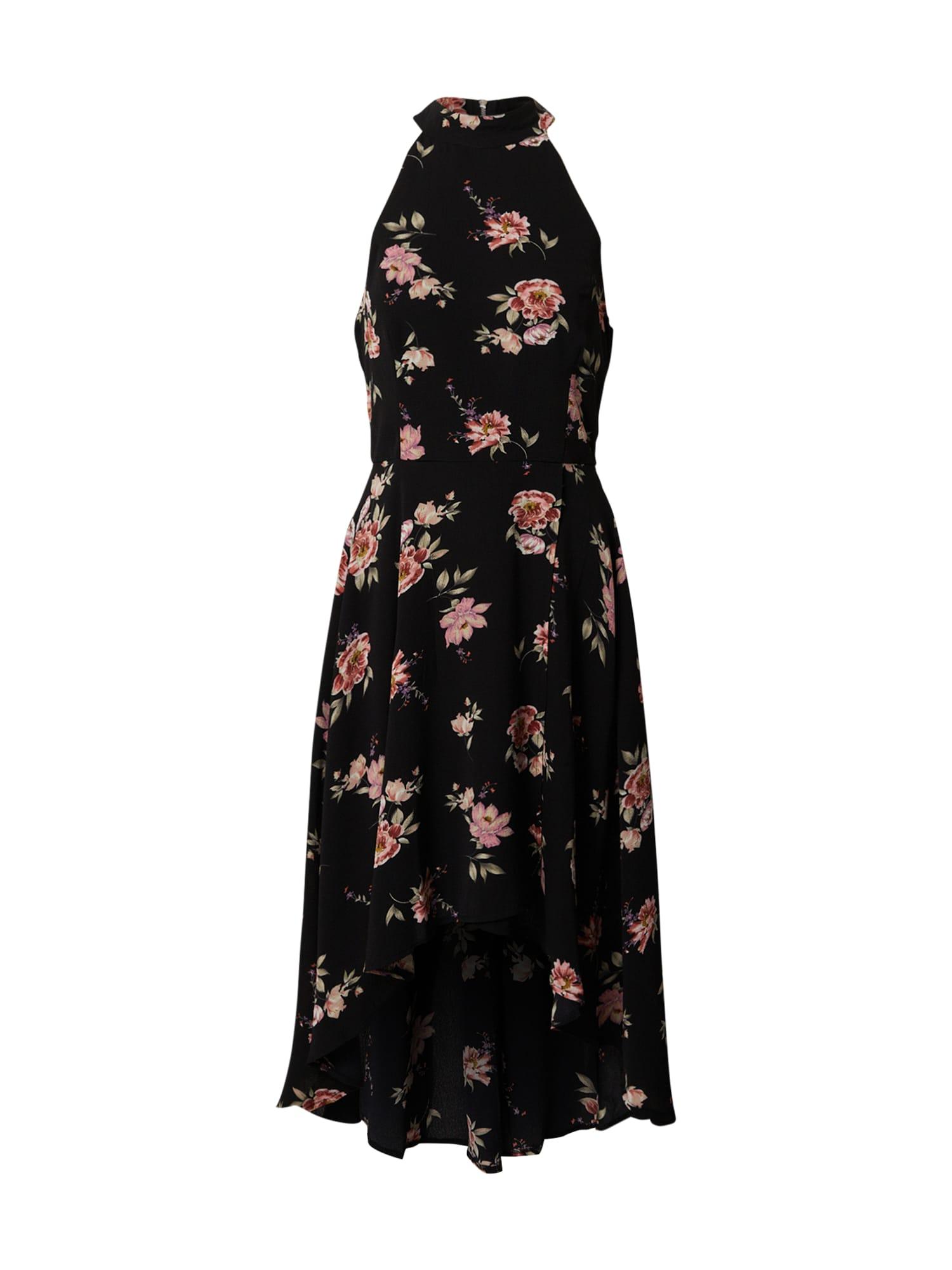 Mela London Kokteilinė suknelė juoda / mišrios spalvos
