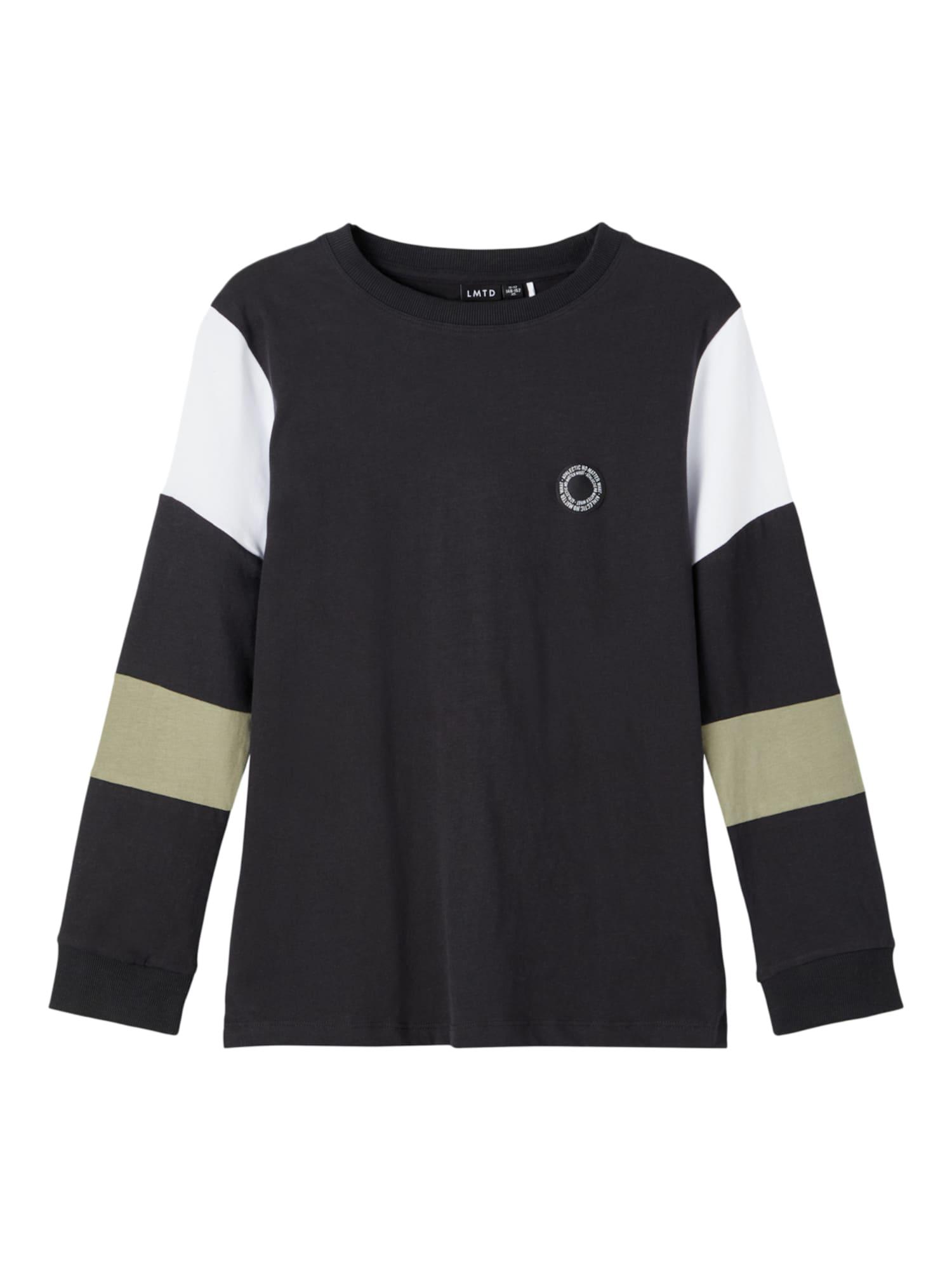 LMTD Marškinėliai juoda / balta / smėlio