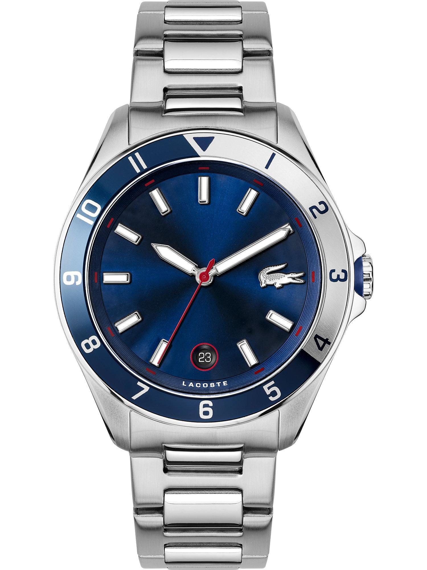 LACOSTE Analoginis (įprasto dizaino) laikrodis sidabrinė / safyro