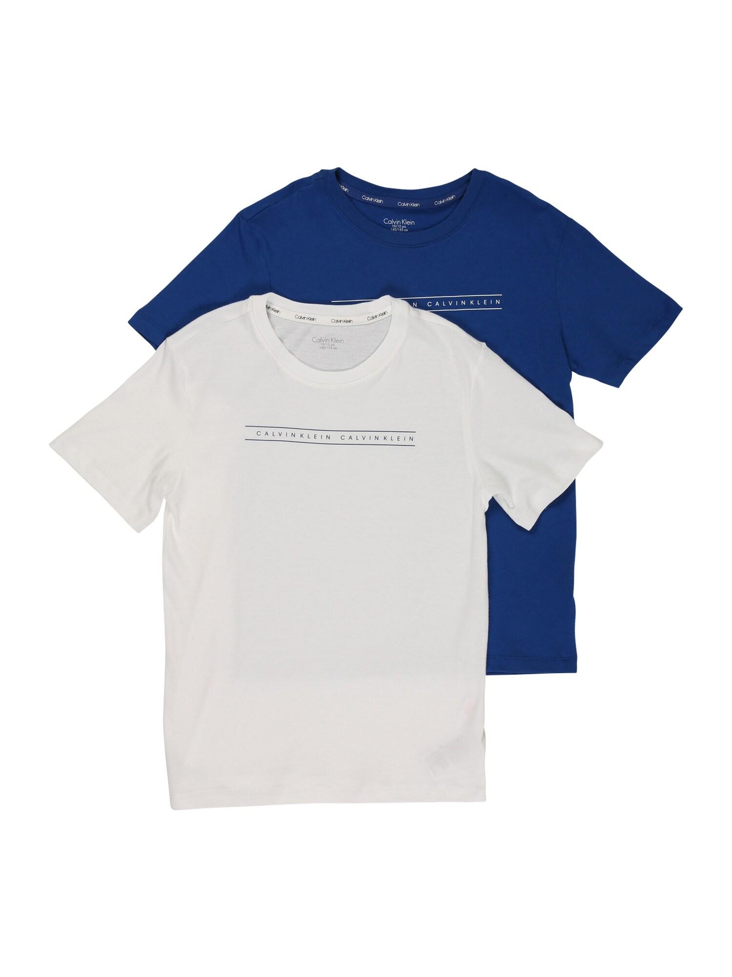 Calvin Klein Underwear Tričko  bílá / modrá