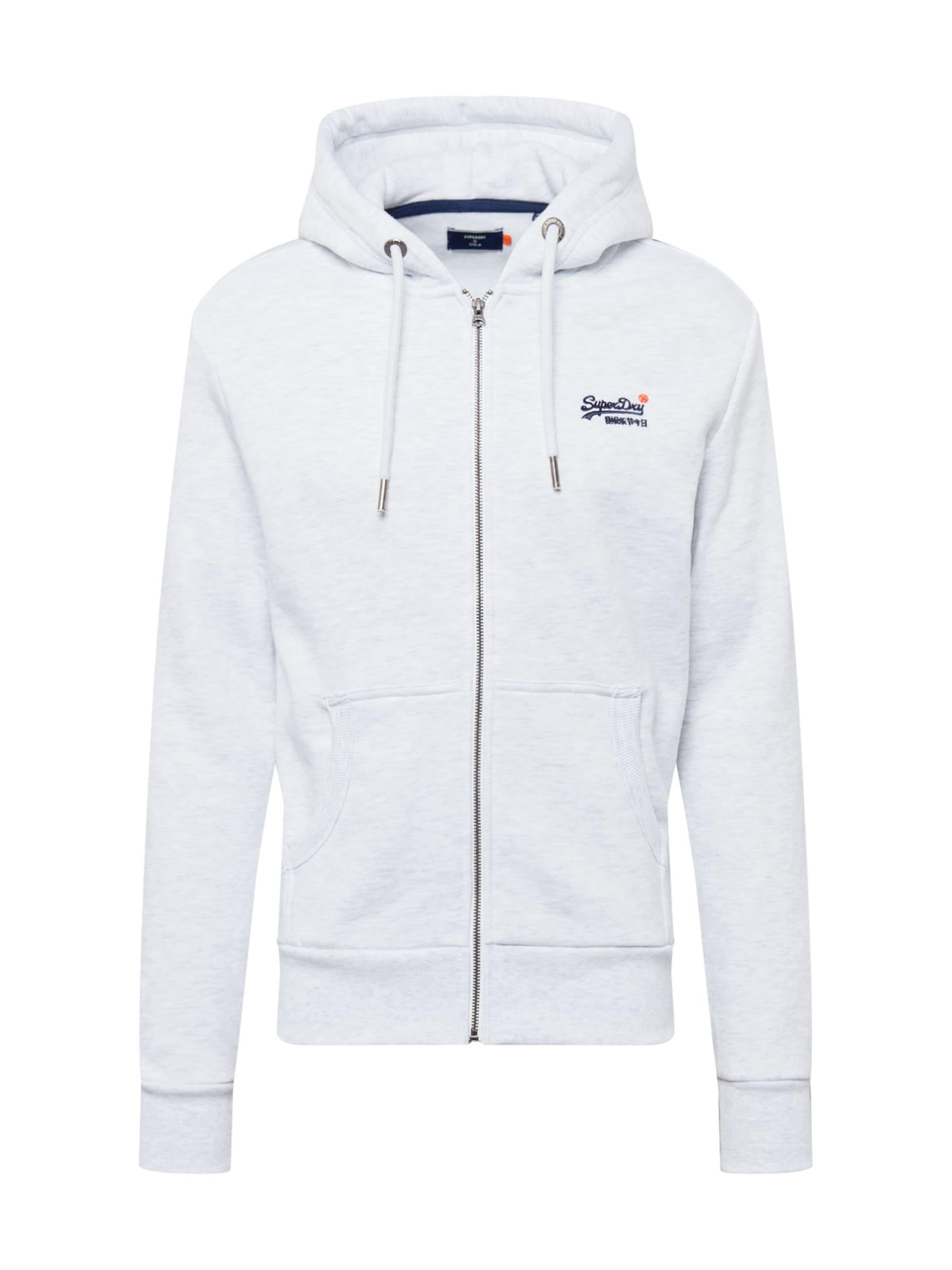 Superdry Mikina s kapucí  marine modrá / bílá