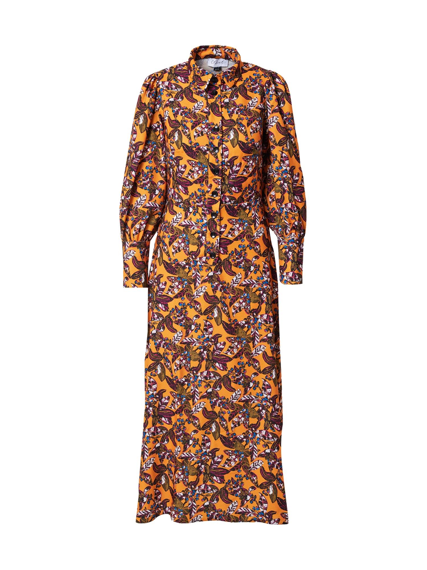 Closet London Palaidinės tipo suknelė oranžinė / mišrios spalvos