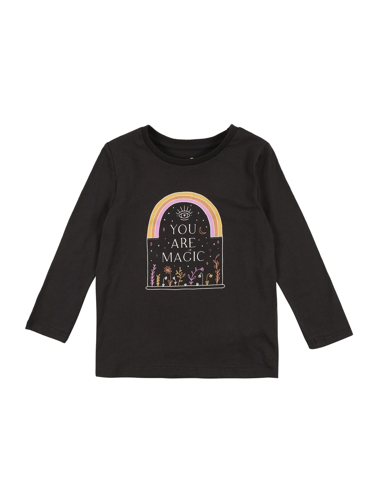 Cotton On Marškinėliai 'Penelope' juoda / oranžinė / garstyčių spalva / purpurinė / balta