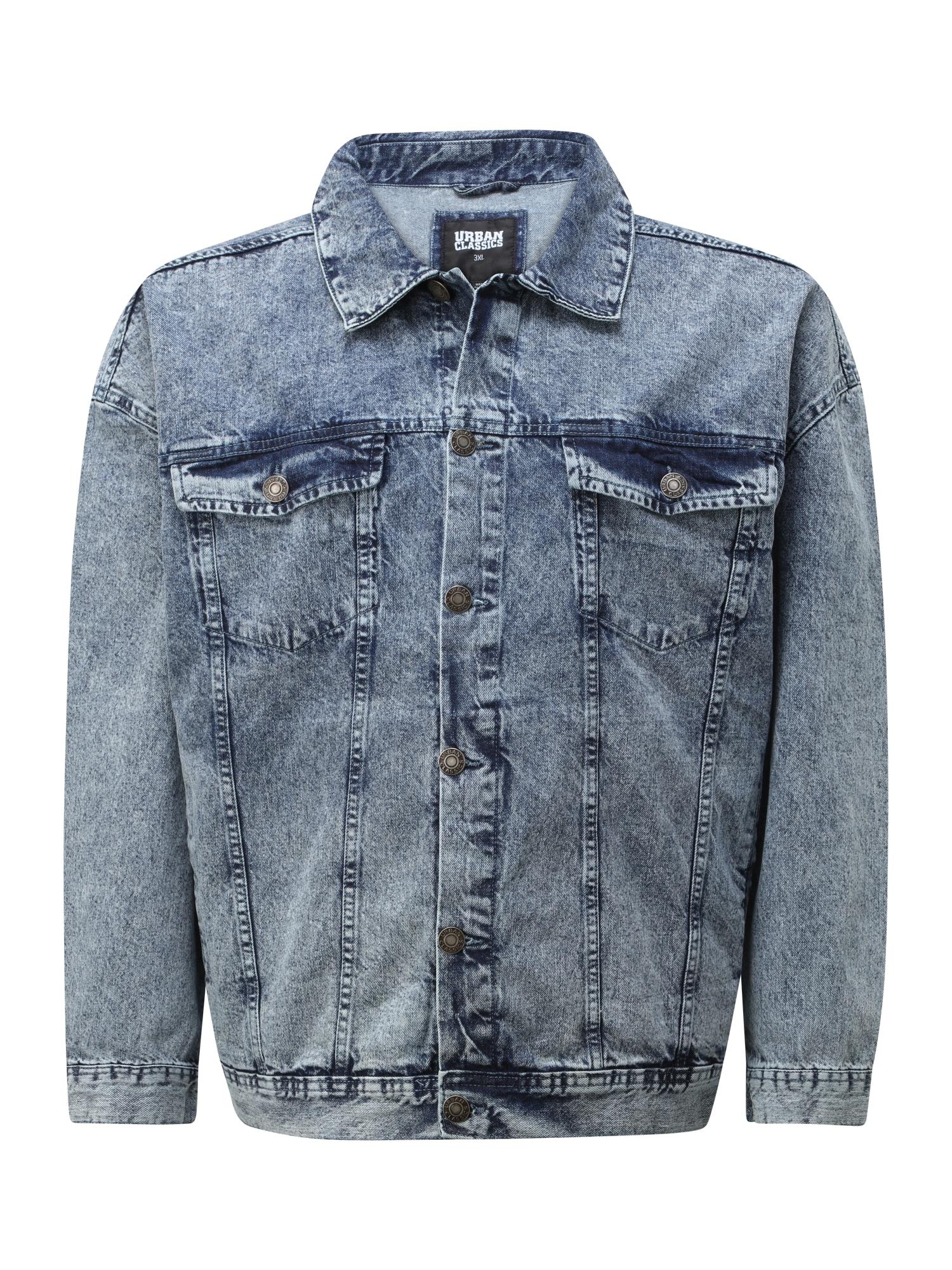 Urban Classics Plus Size Demisezoninė striukė tamsiai (džinso) mėlyna