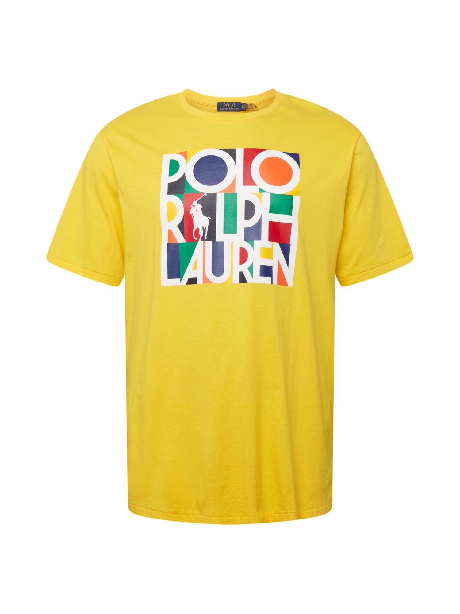 Polo Ralph Lauren Big & Tall Marškinėliai aukso geltonumo spalva / juoda / tamsiai mėlyna jūros spalva / balta / žaliosios citrinos spalva
