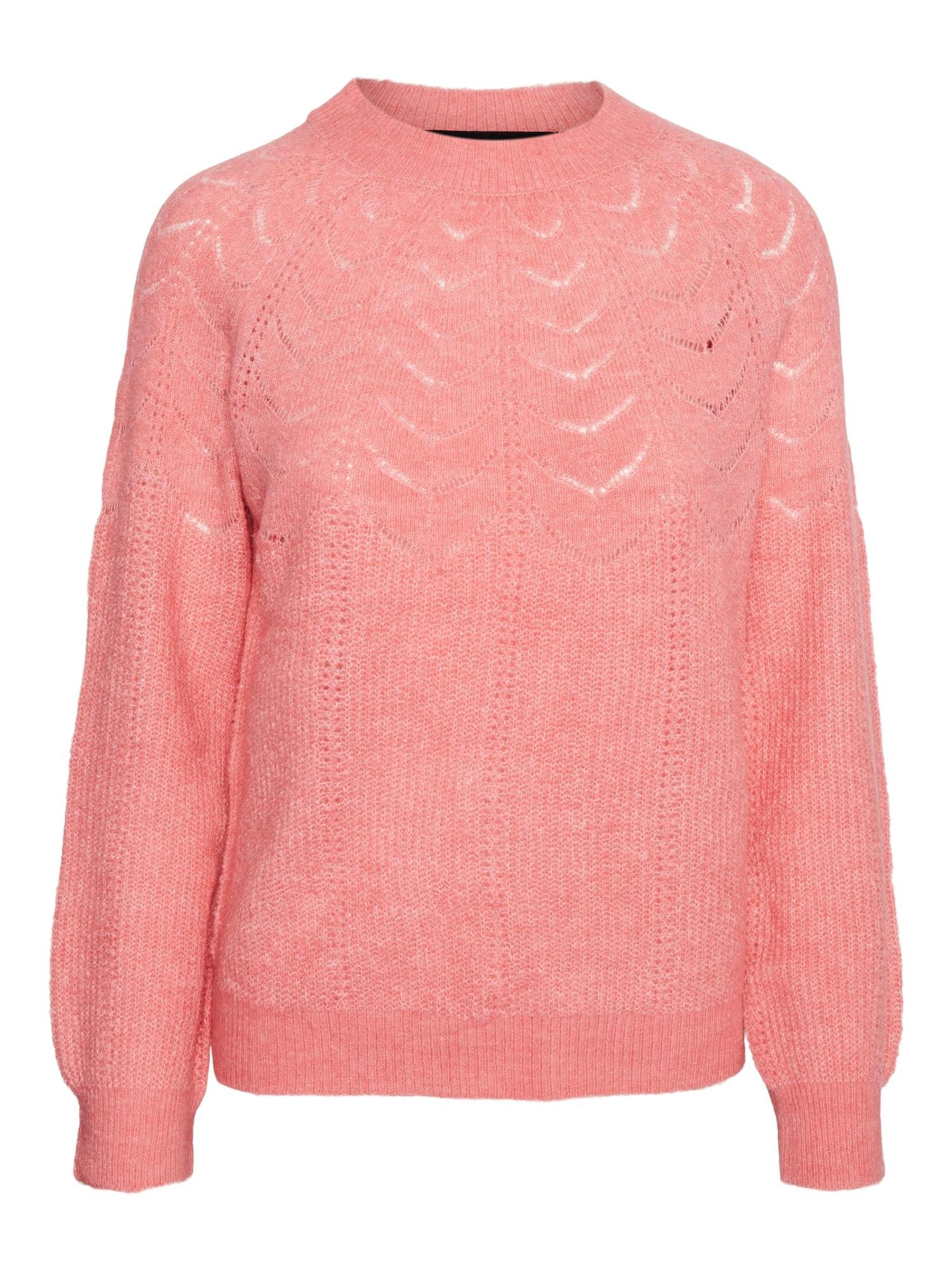 VERO MODA Megztinis 'PETRINE' šviesiai rožinė