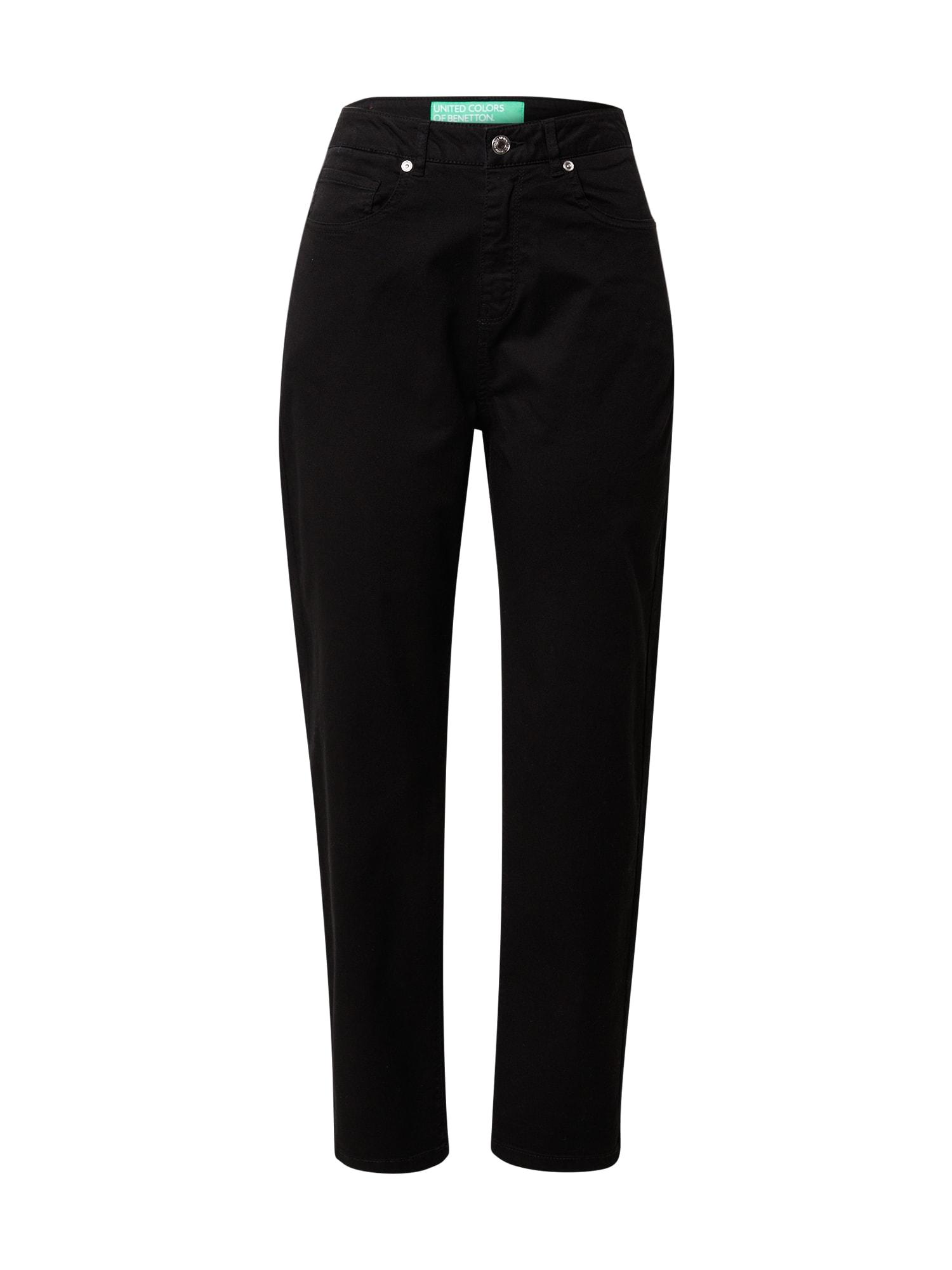 UNITED COLORS OF BENETTON Džinsai juodo džinso spalva