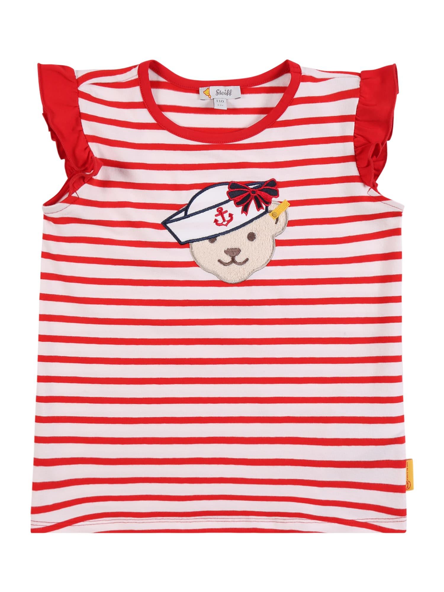 Steiff Collection Marškinėliai raudona / balta / tamsiai mėlyna / smėlio