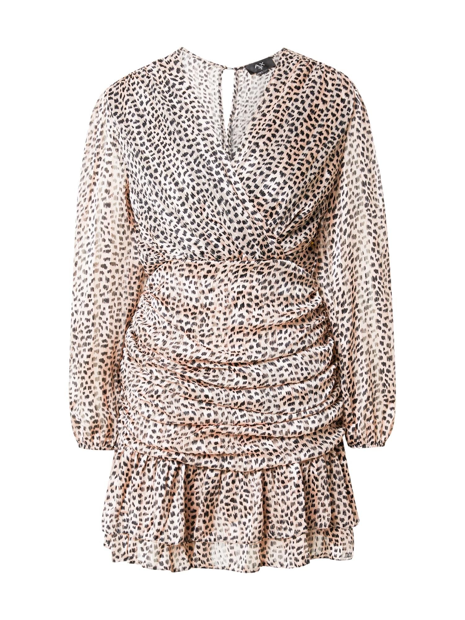 AX Paris Suknelė antracito spalva / kūno spalva