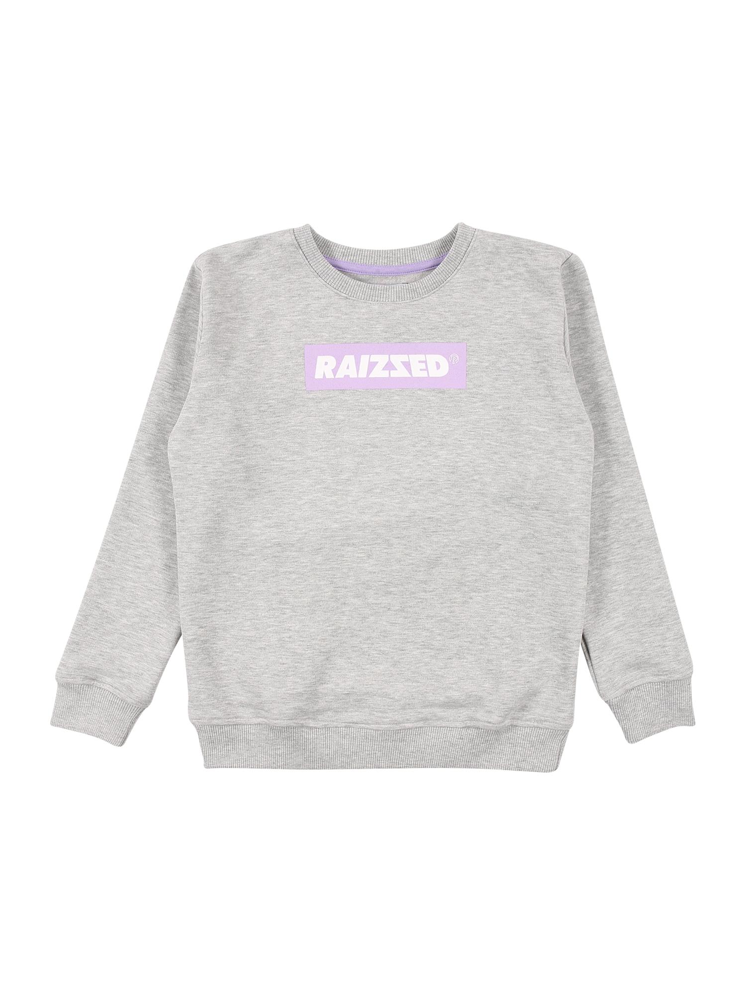 Raizzed Megztinis be užsegimo margai pilka / balta / rausvai violetinė spalva