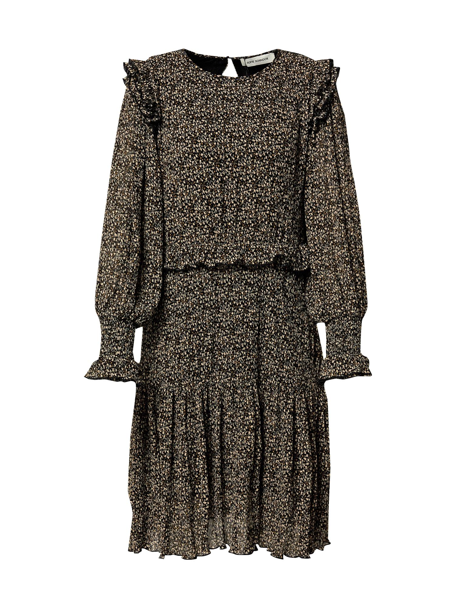Sofie Schnoor Palaidinės tipo suknelė juoda / aukso geltonumo spalva / glaisto spalva / smaragdinė spalva