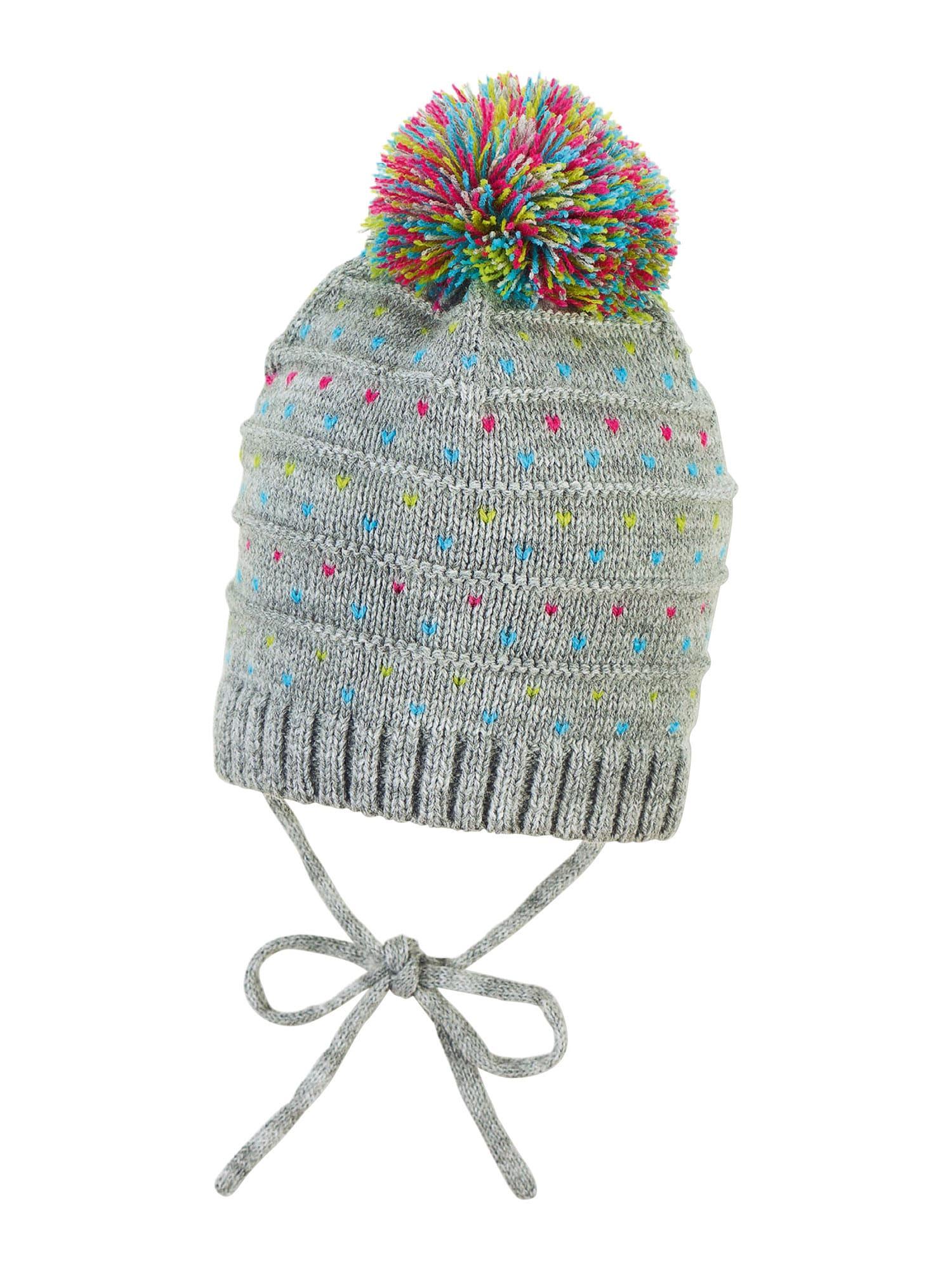 STERNTALER Megzta kepurė sidabro pilka / dangaus žydra / rožinė / žalia