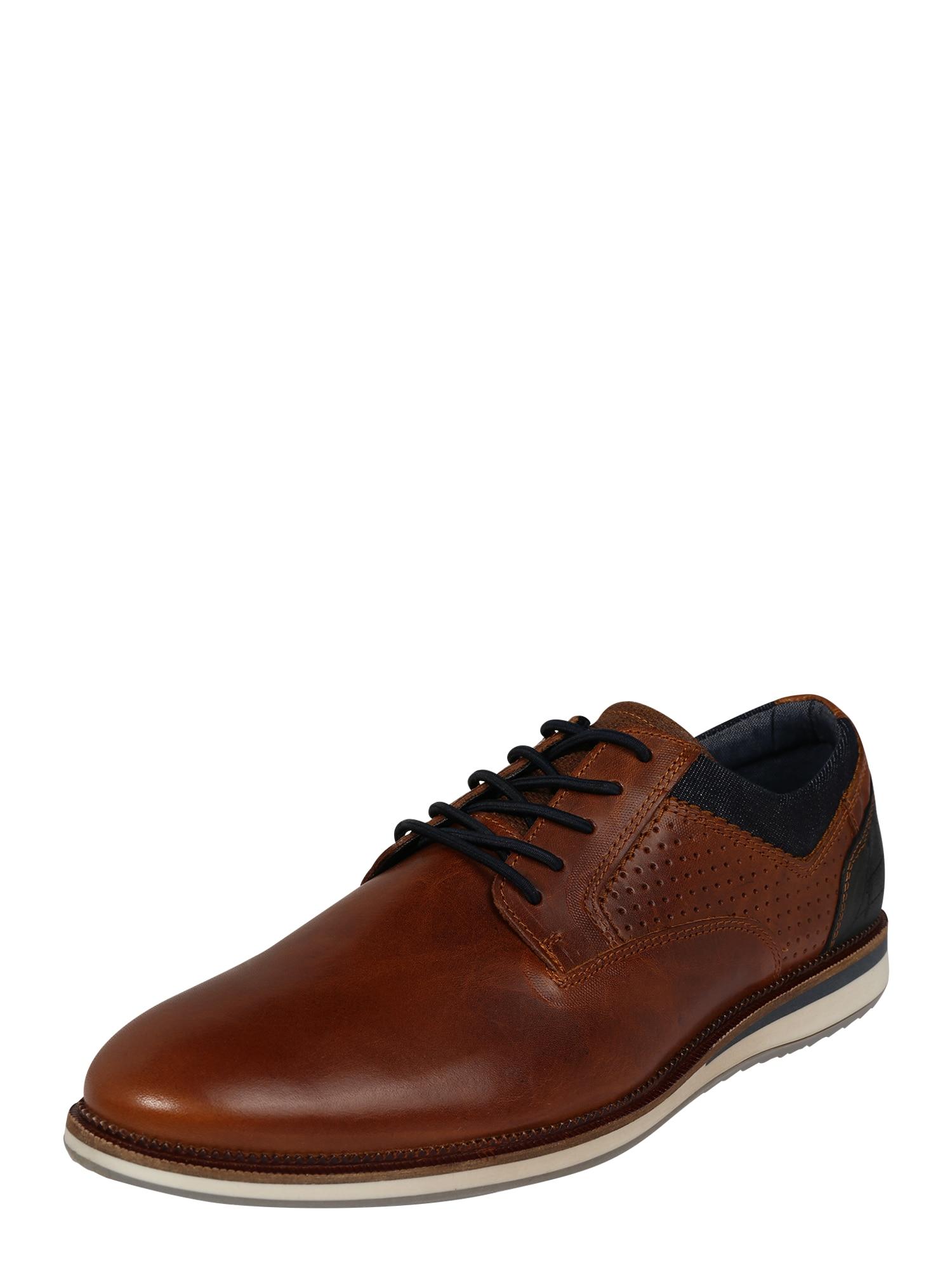 BULLBOXER Sportinio stiliaus batai su raišteliais ruda (konjako)