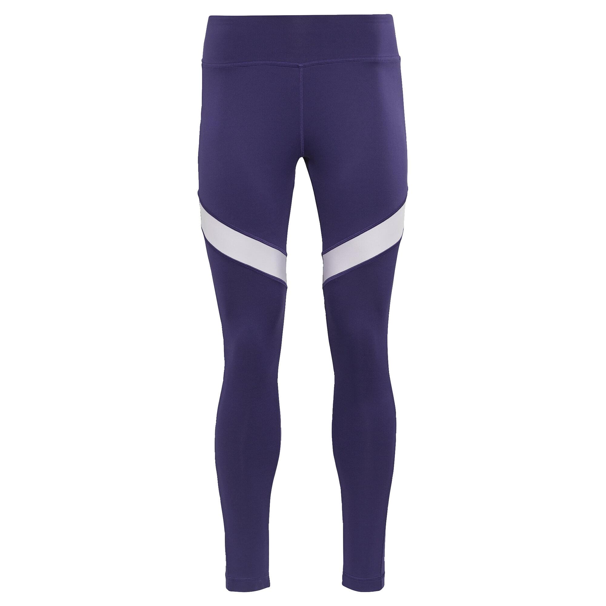 REEBOK Sportinės kelnės tamsiai violetinė / balta