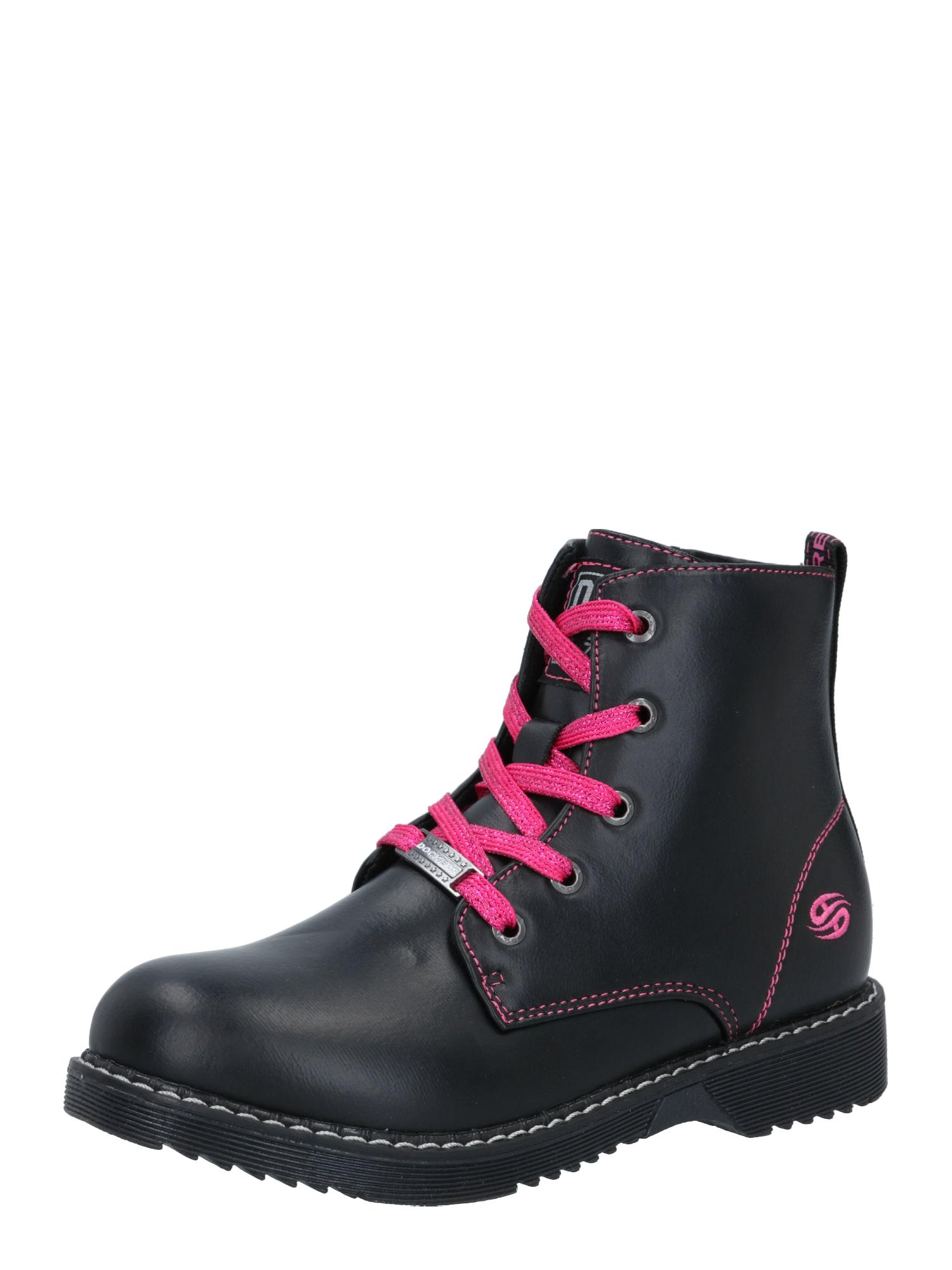 Dockers by Gerli Auliniai batai su kulniuku juoda / rožinė