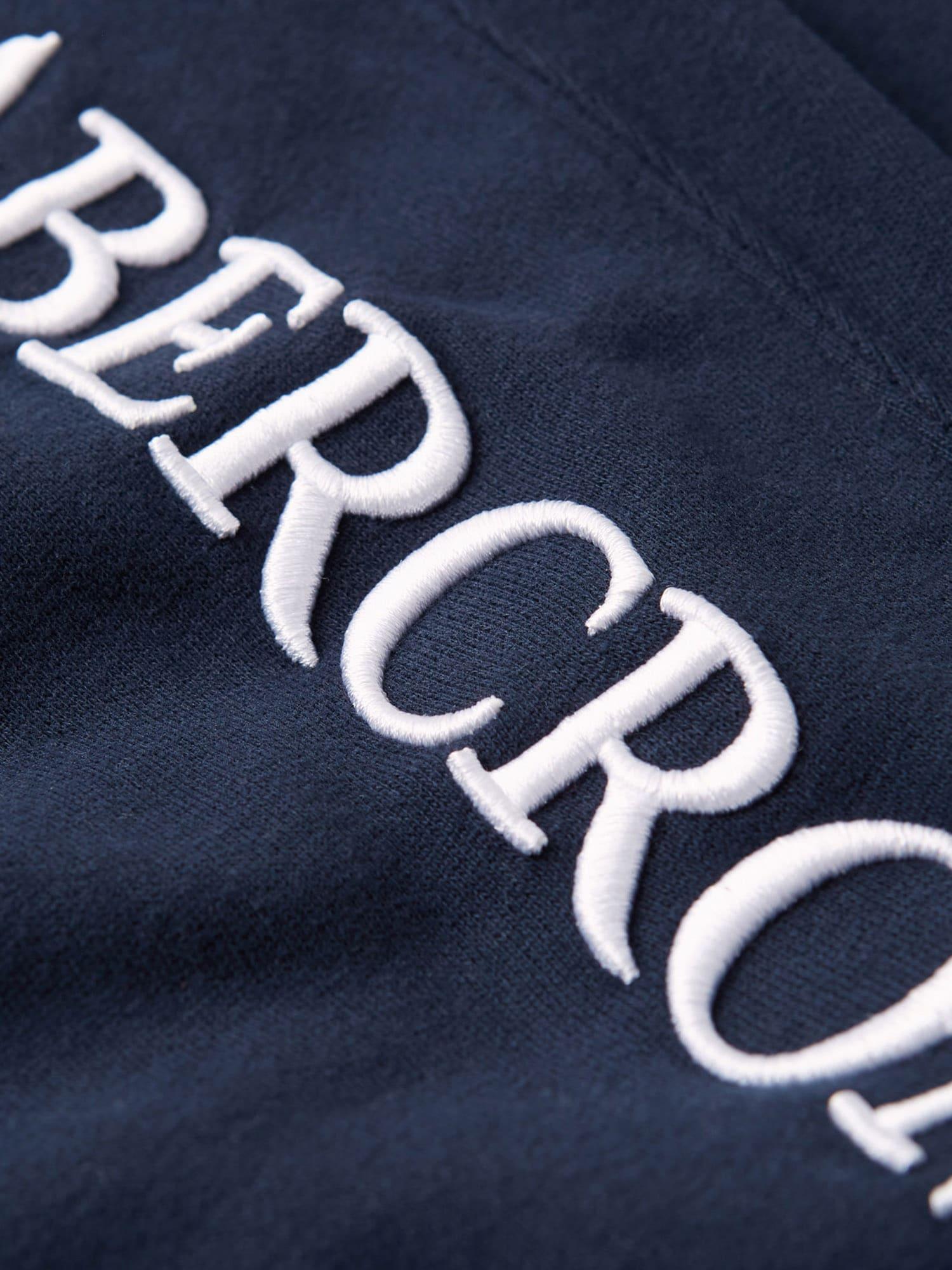 Abercrombie & Fitch Byxa  marinblå / vit