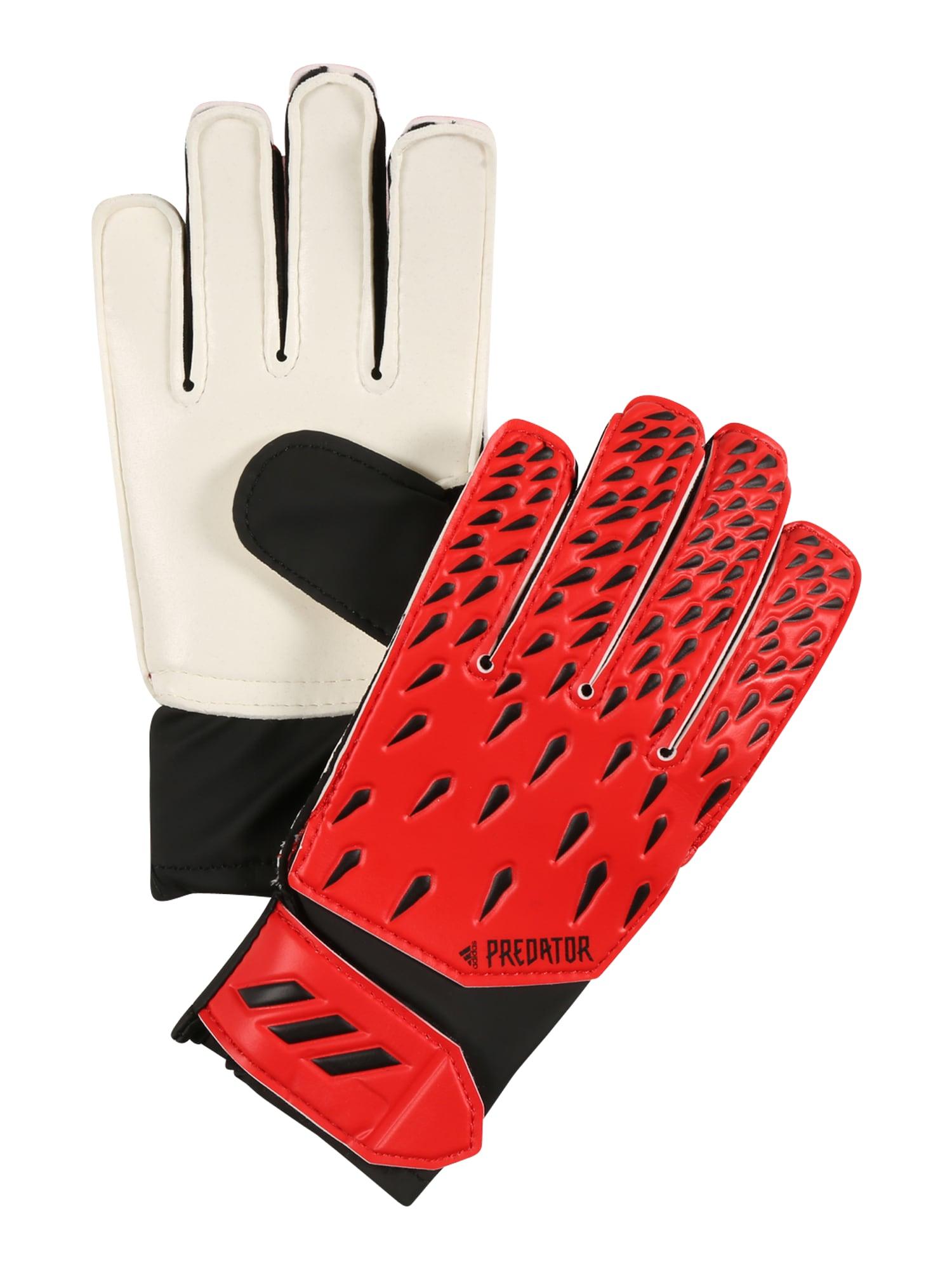 ADIDAS PERFORMANCE Sportinės pirštinės raudona / balta / juoda