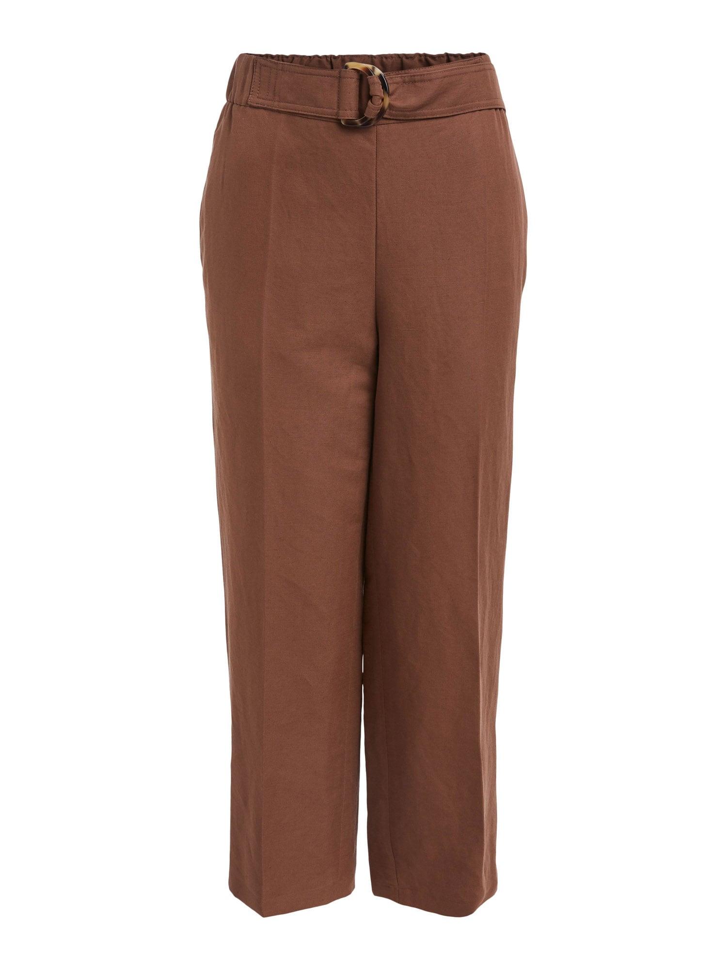 SET Kelnės su kantu ruda