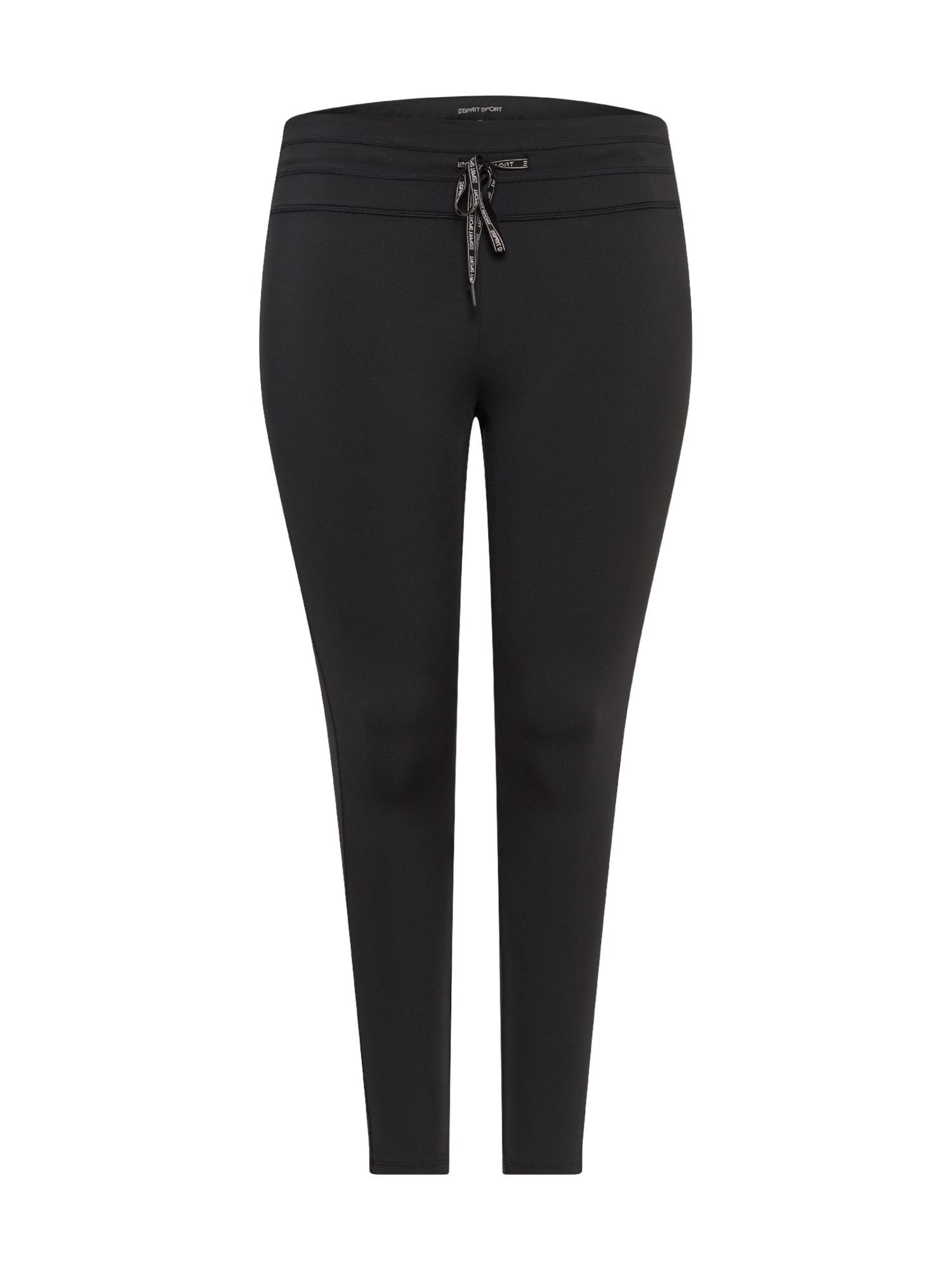 Esprit Sport Curvy Kelnės juoda