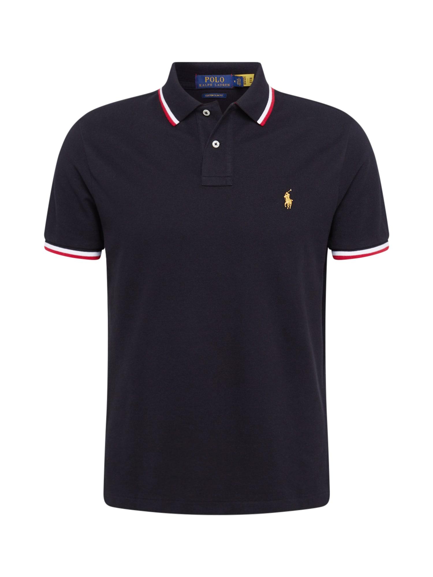POLO RALPH LAUREN Marškinėliai juoda / balta / raudona