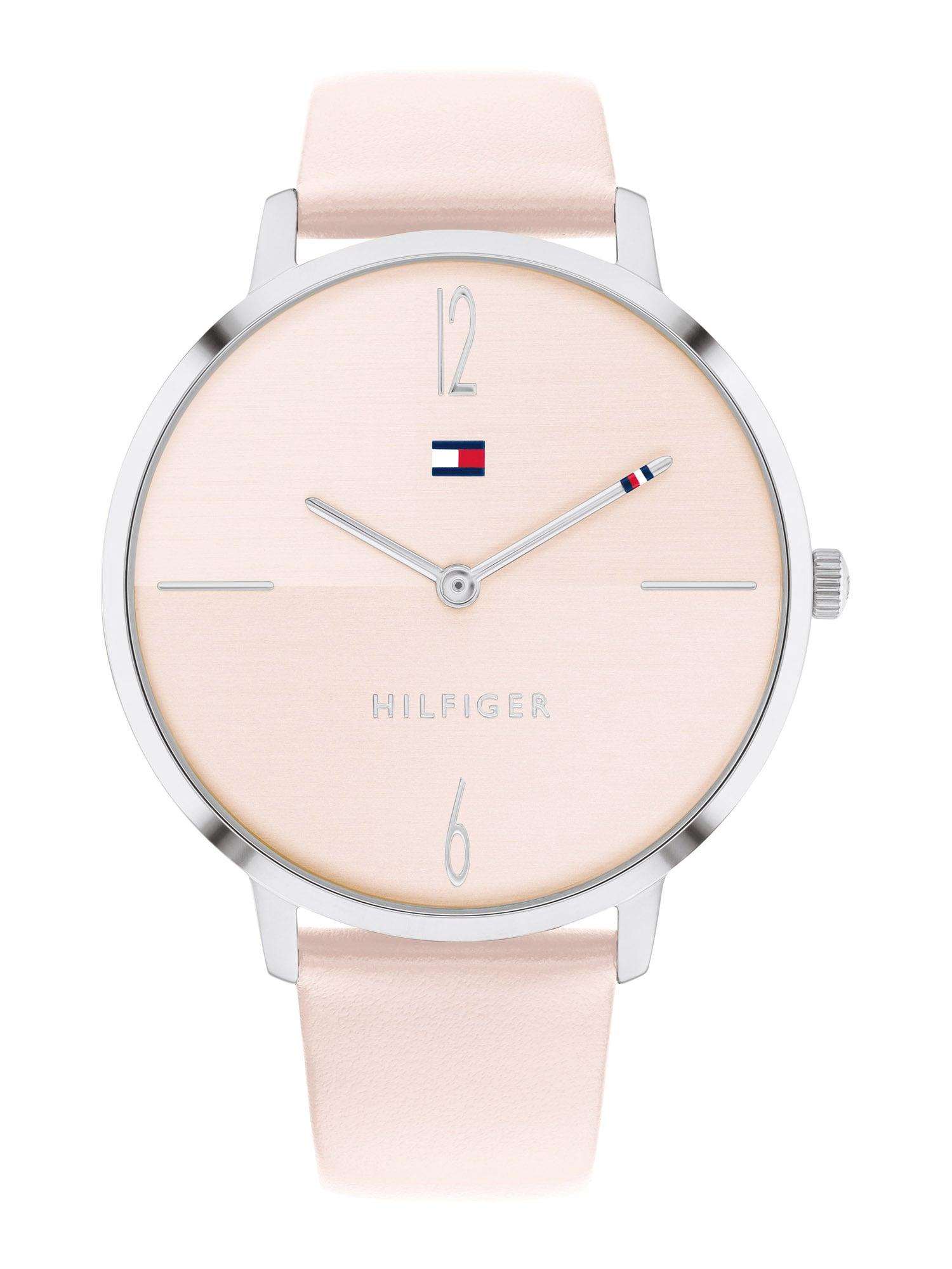 TOMMY HILFIGER Analoginis (įprasto dizaino) laikrodis rožių spalva / sidabrinė