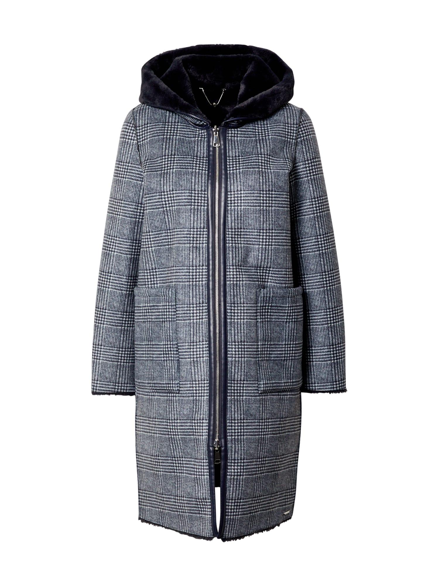 RINO & PELLE Demisezoninis paltas tamsiai pilka / šviesiai pilka