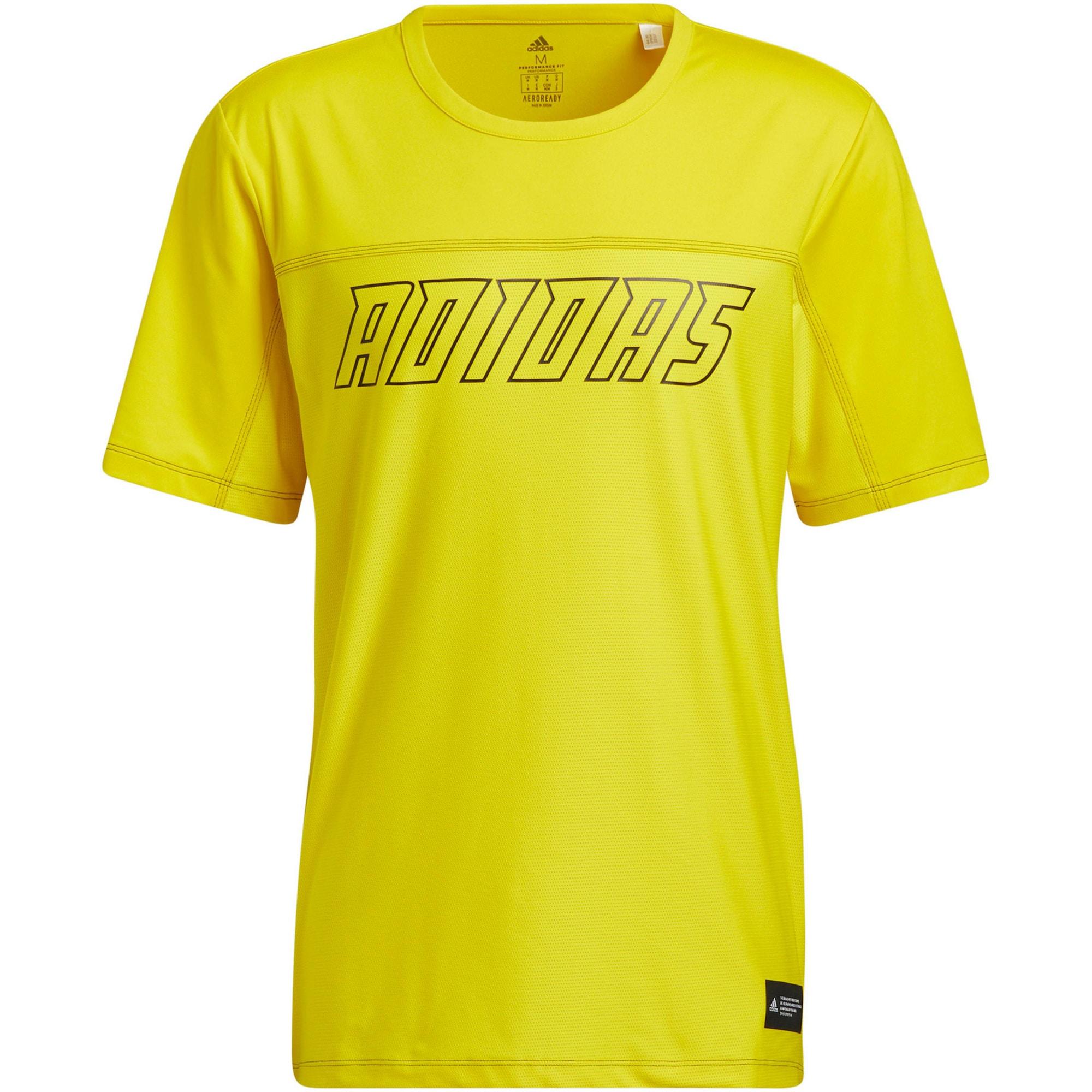 ADIDAS PERFORMANCE Funkční tričko  žlutá / černá