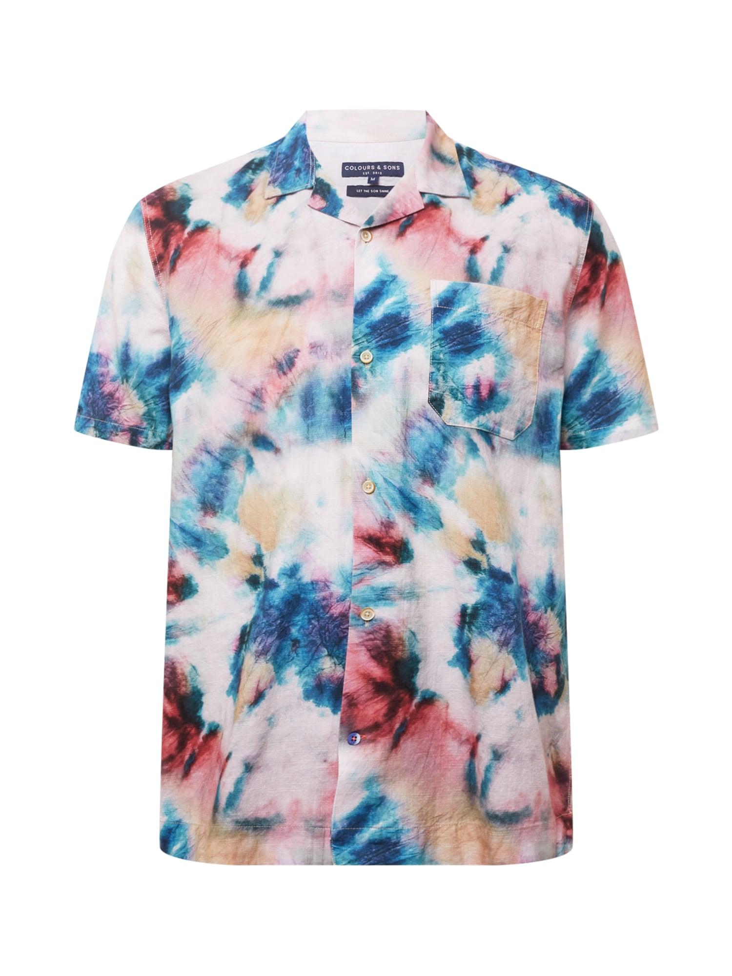 COLOURS & SONS Marškiniai pudros spalva / raudona / mėlyna / smėlio spalva
