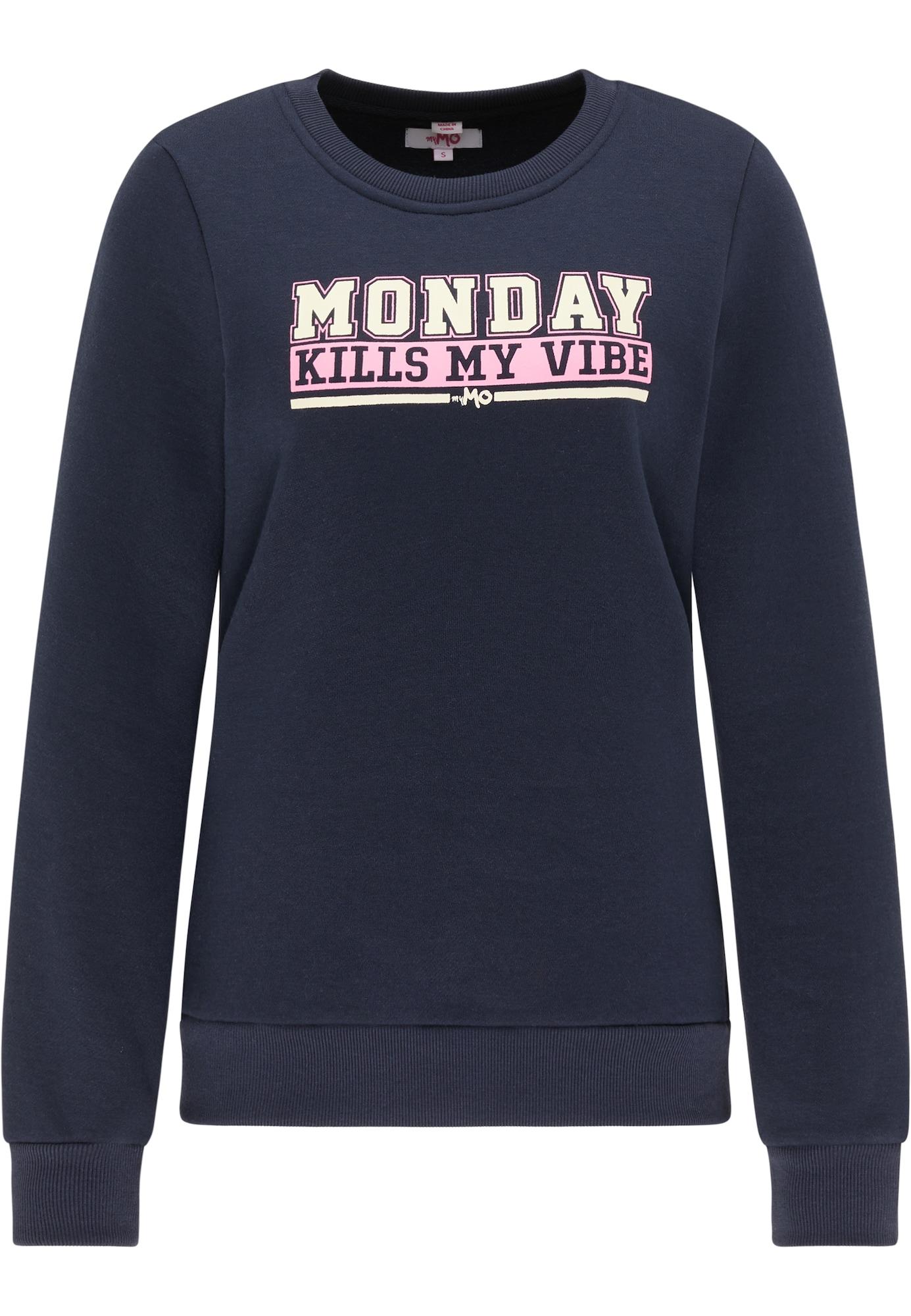MYMO Megztinis be užsegimo balta / tamsiai mėlyna jūros spalva / šviesiai rožinė