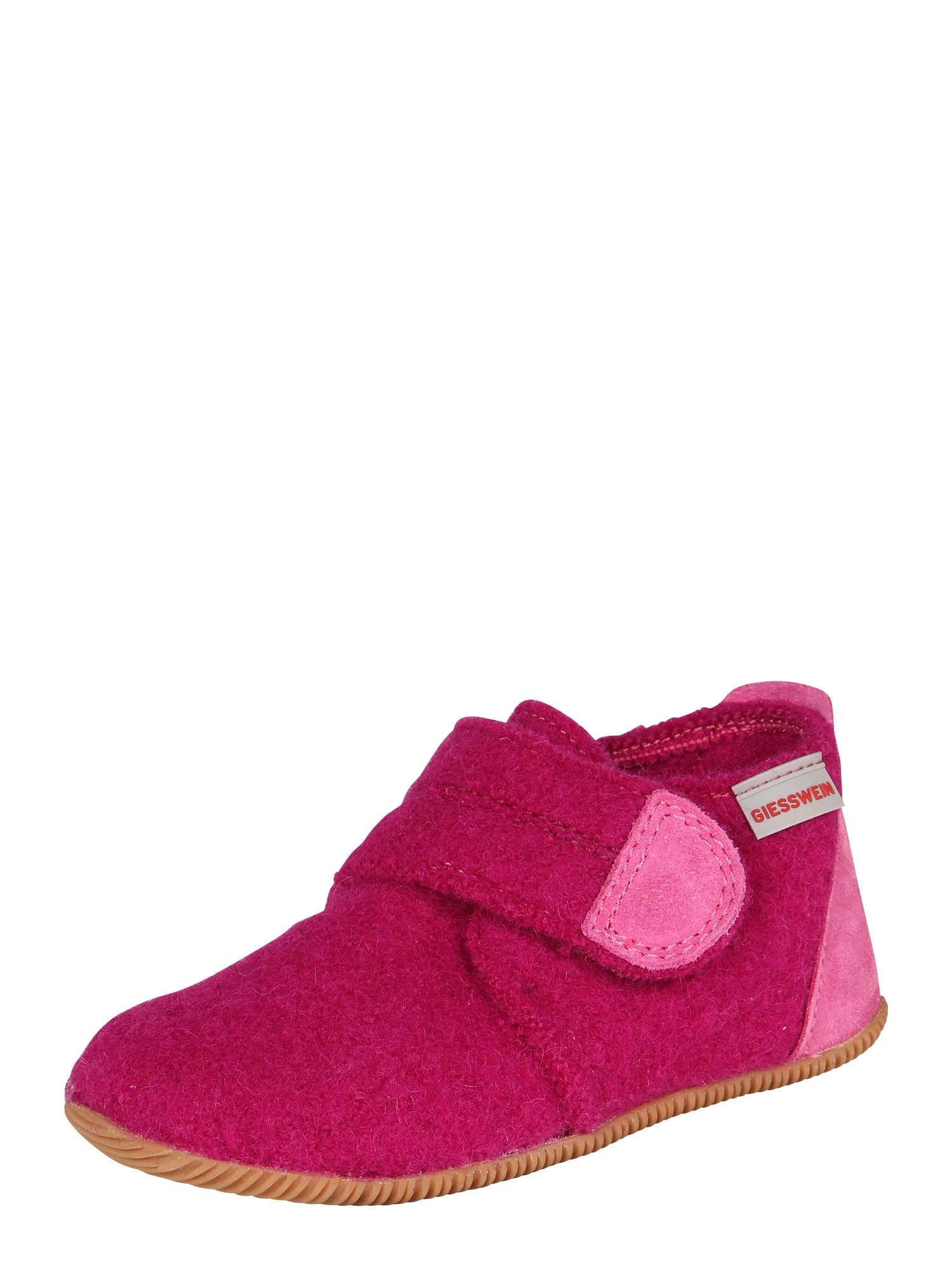 GIESSWEIN Pantofle 'Oberstaufen'  fuchsiová / pink