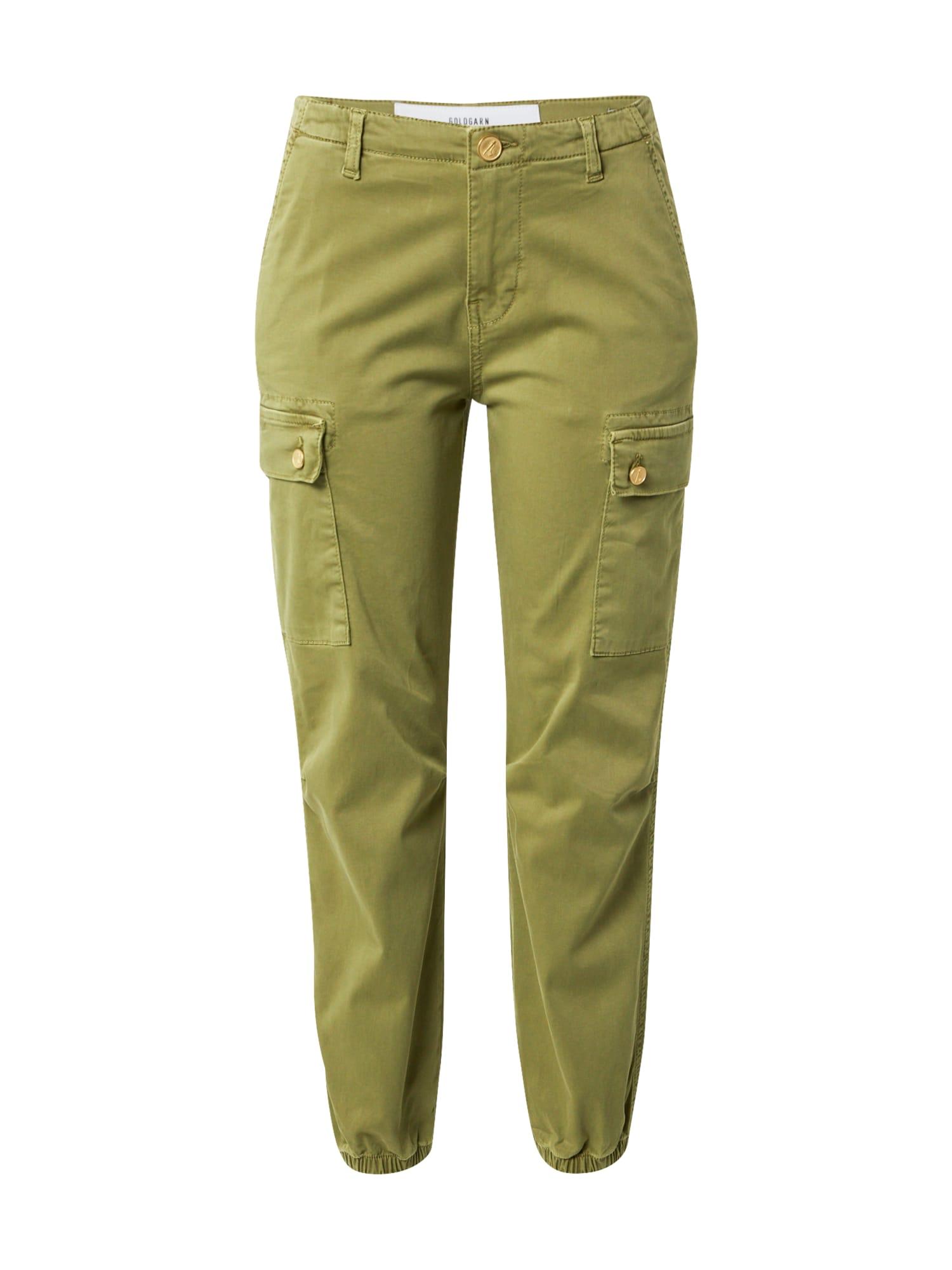 Goldgarn Darbinio stiliaus džinsai alyvuogių spalva