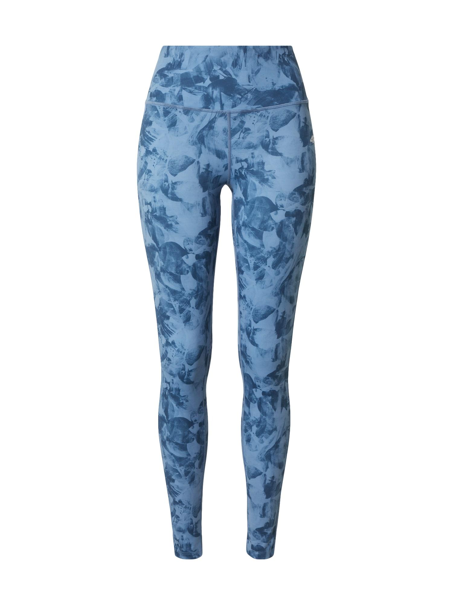 4F Sportinės kelnės mėlyna dūmų spalva / mėlyna