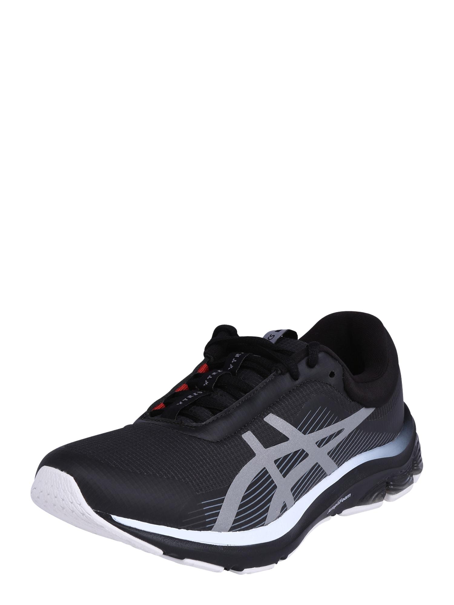 ASICS Bėgimo batai pilka / juoda
