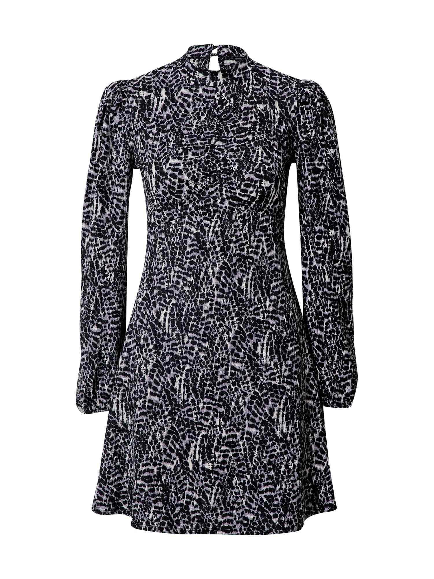 Dorothy Perkins Palaidinės tipo suknelė balta / juoda / pilka
