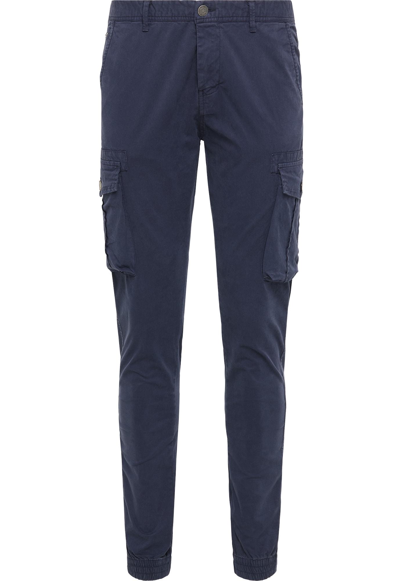 MO Laisvo stiliaus kelnės tamsiai mėlyna jūros spalva