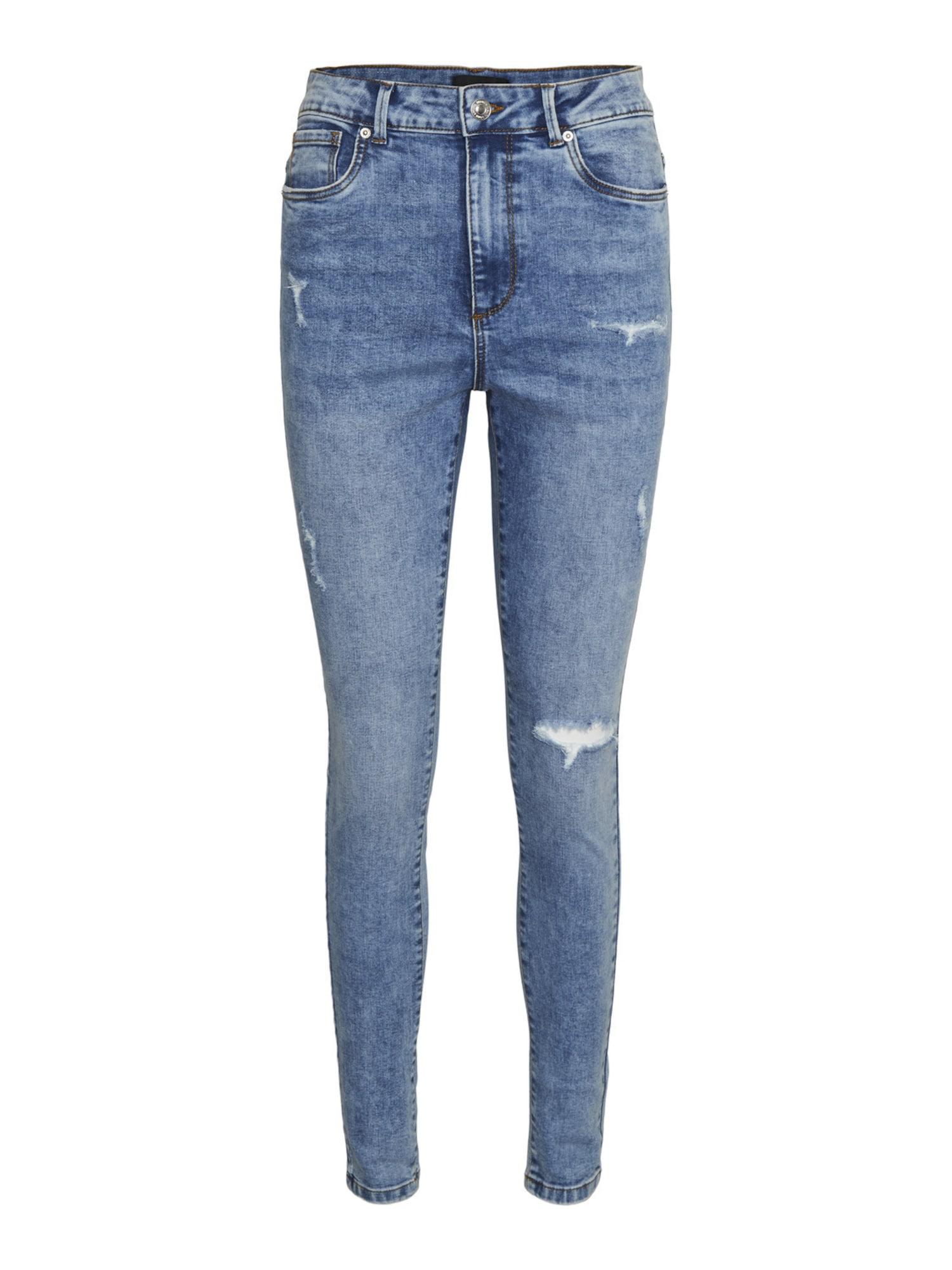 Vero Moda Curve Džinsai mėlyna