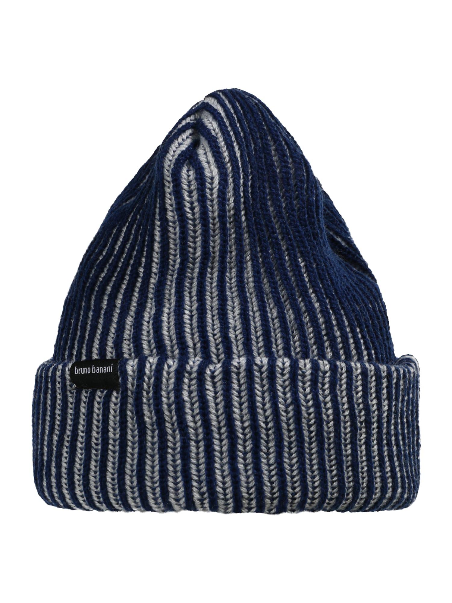 BRUNO BANANI Megzta kepurė tamsiai mėlyna / perlų balta