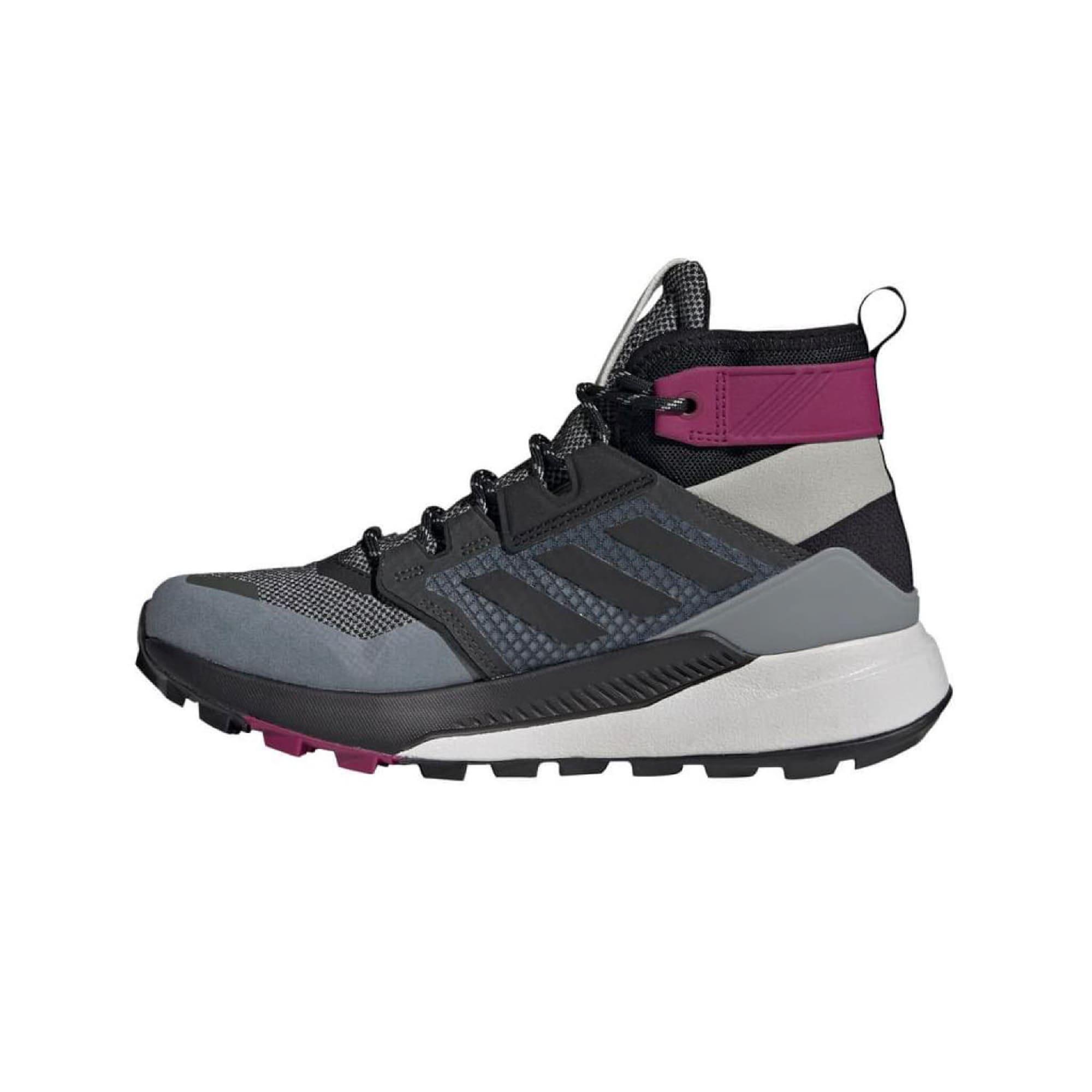 ADIDAS PERFORMANCE Auliniai batai juoda / pilka / šviesiai pilka / eozino spalva / mėlyna dūmų spalva