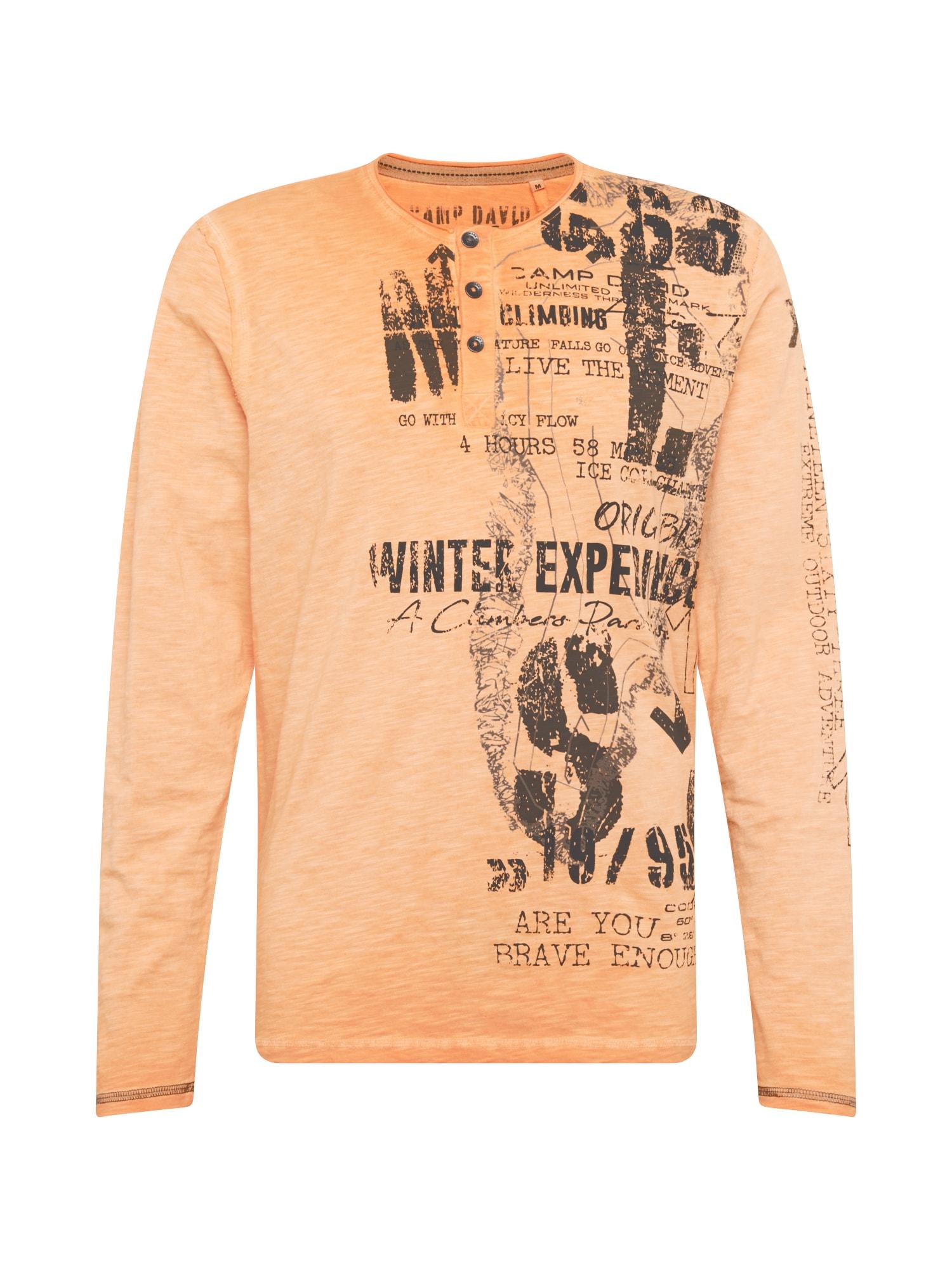 CAMP DAVID Marškinėliai pastelinė oranžinė / antracito