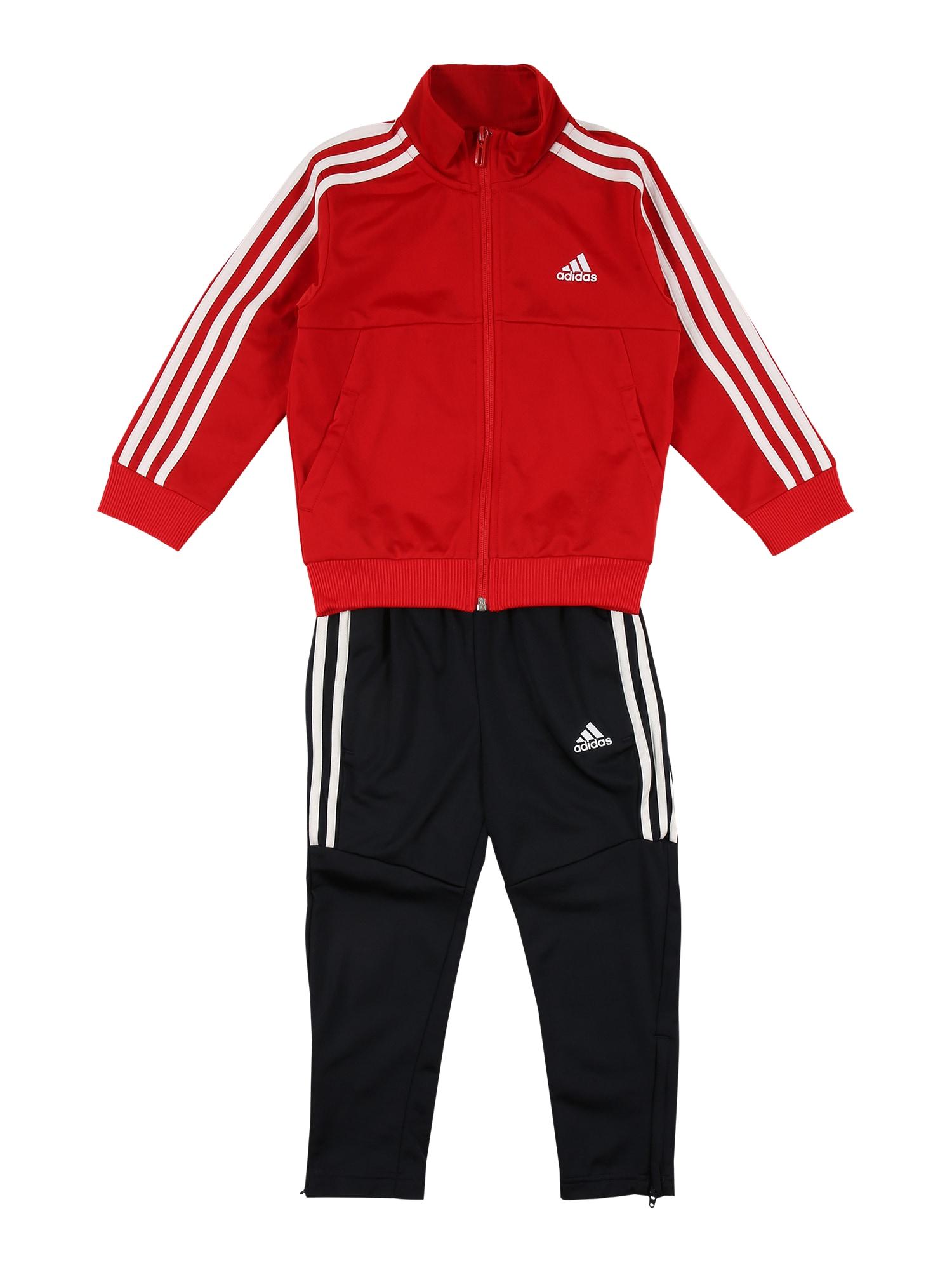 ADIDAS PERFORMANCE Treniruočių kostiumas 'Tiro' balta / juoda / raudona