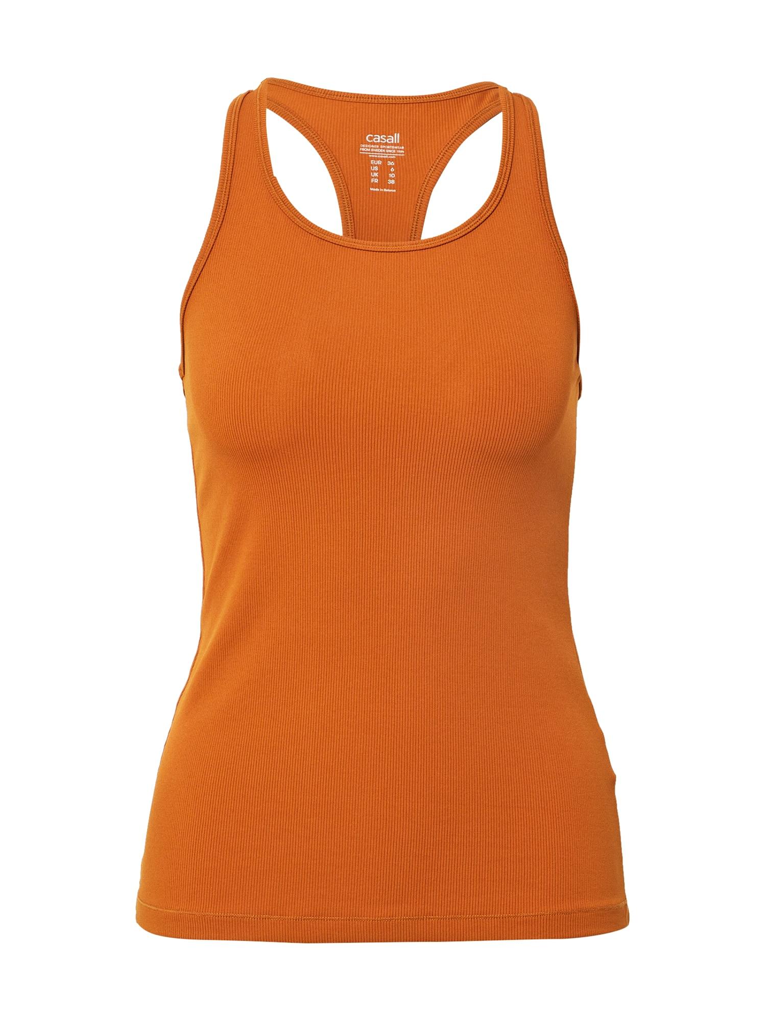 Casall Sportiniai marškinėliai be rankovių ruda (konjako)
