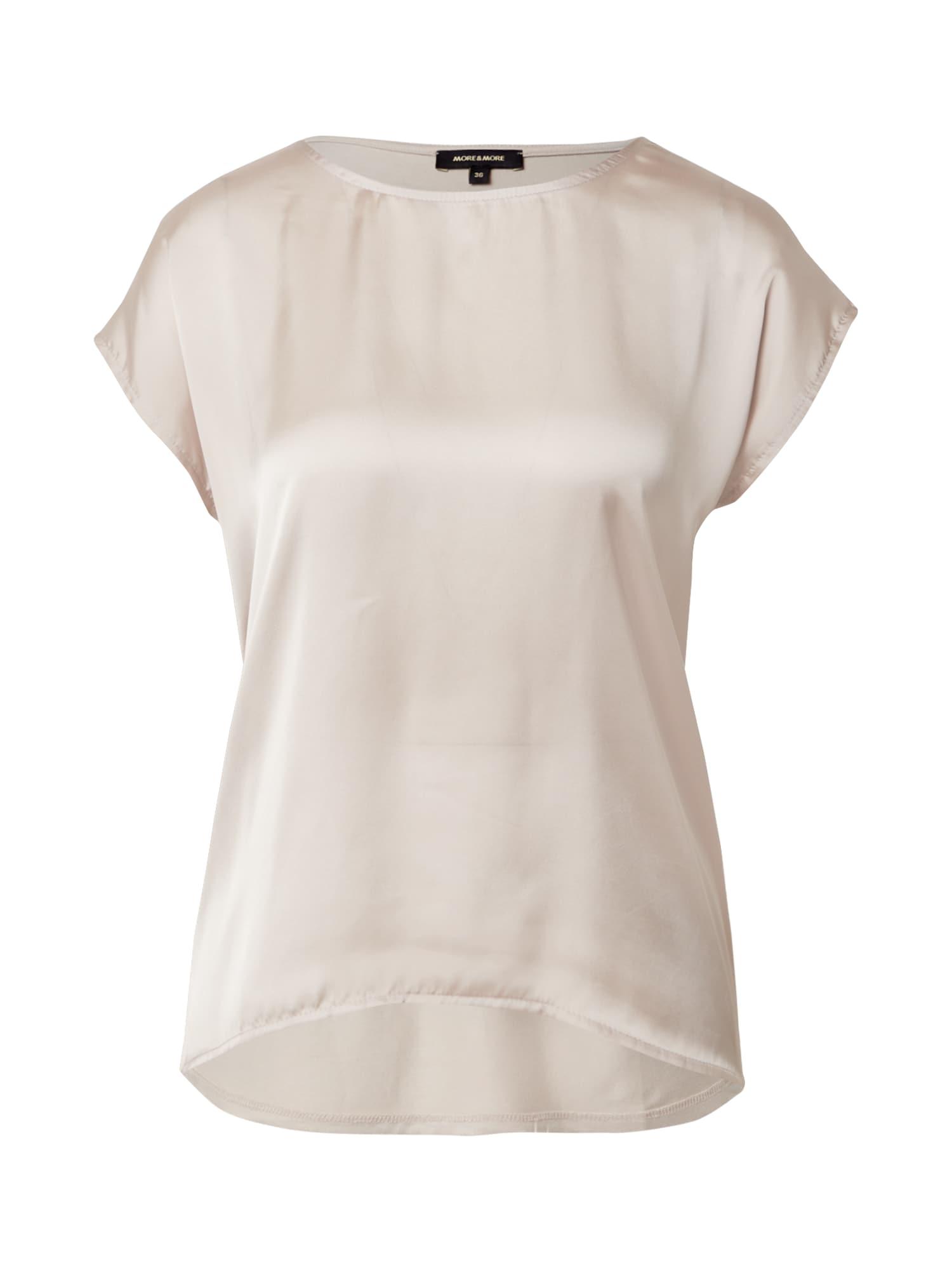 MORE & MORE Marškinėliai kiaušinio lukšto spalva