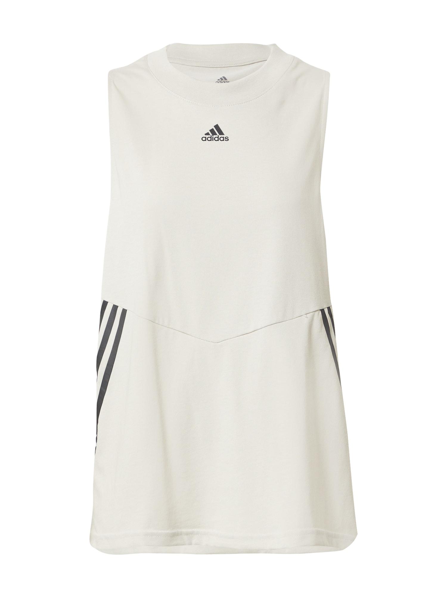 ADIDAS PERFORMANCE Sportiniai marškinėliai be rankovių šviesiai pilka / juoda
