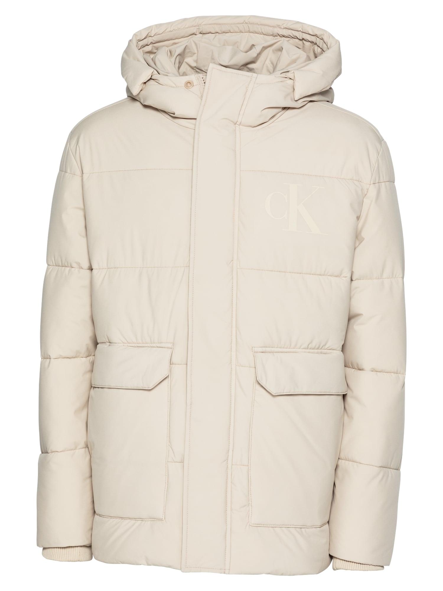 Calvin Klein Jeans Demisezoninė striukė natūrali balta