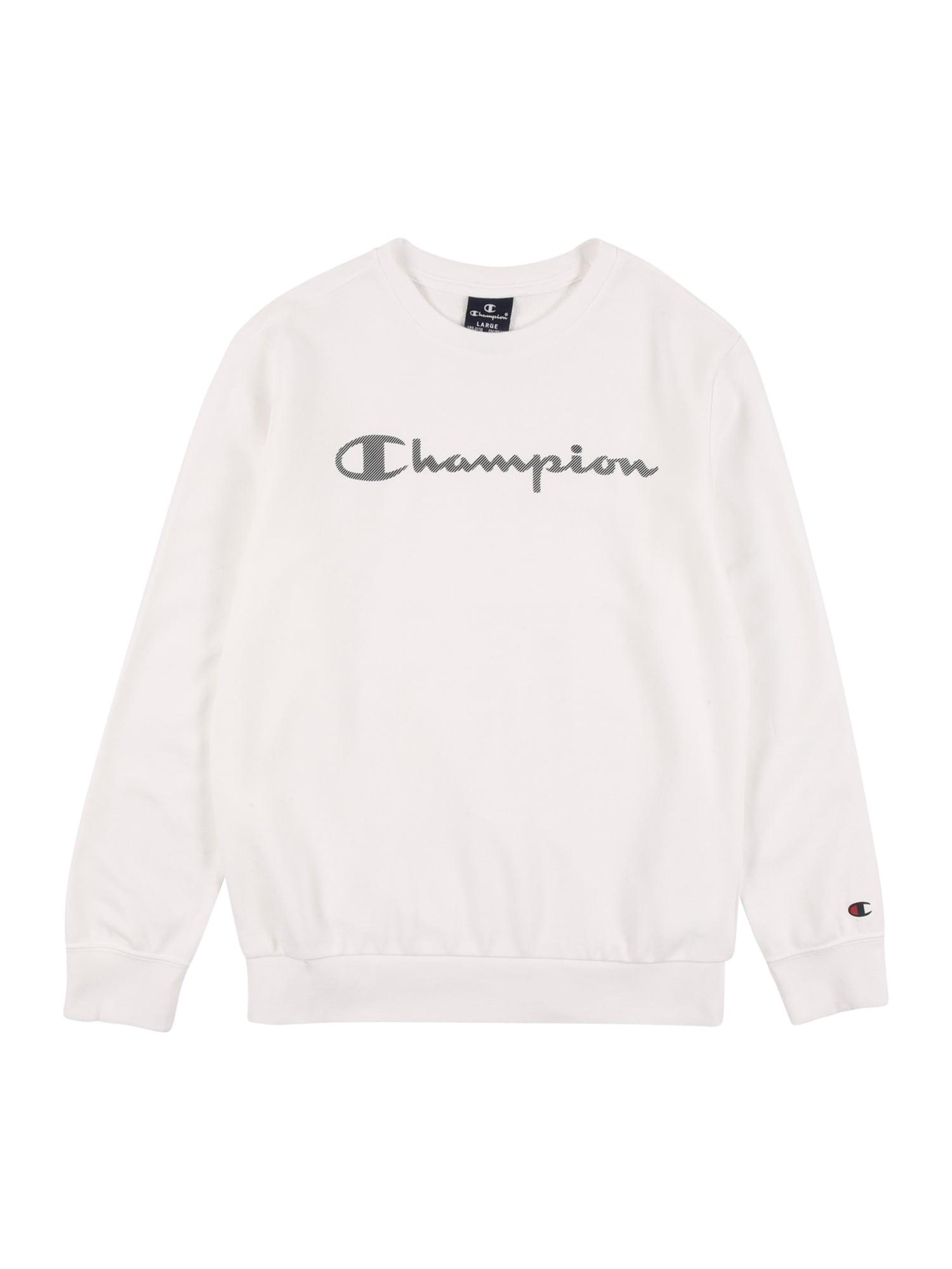 Champion Authentic Athletic Apparel Megztinis be užsegimo balta / akmens / raudona / tamsiai mėlyna