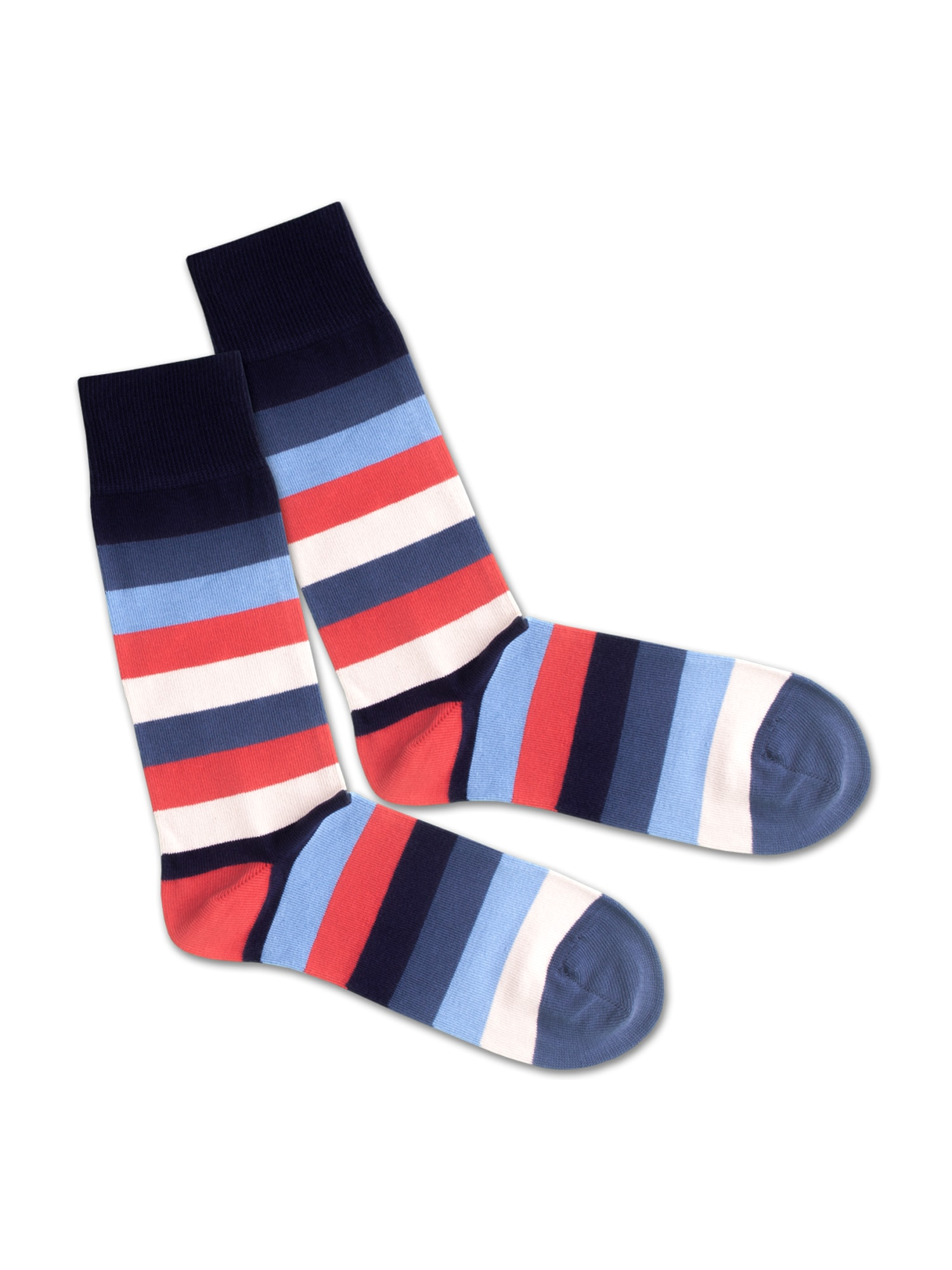 DillySocks Ponožky 'SS200-2 Nautic Line'  červená / černá / modrá